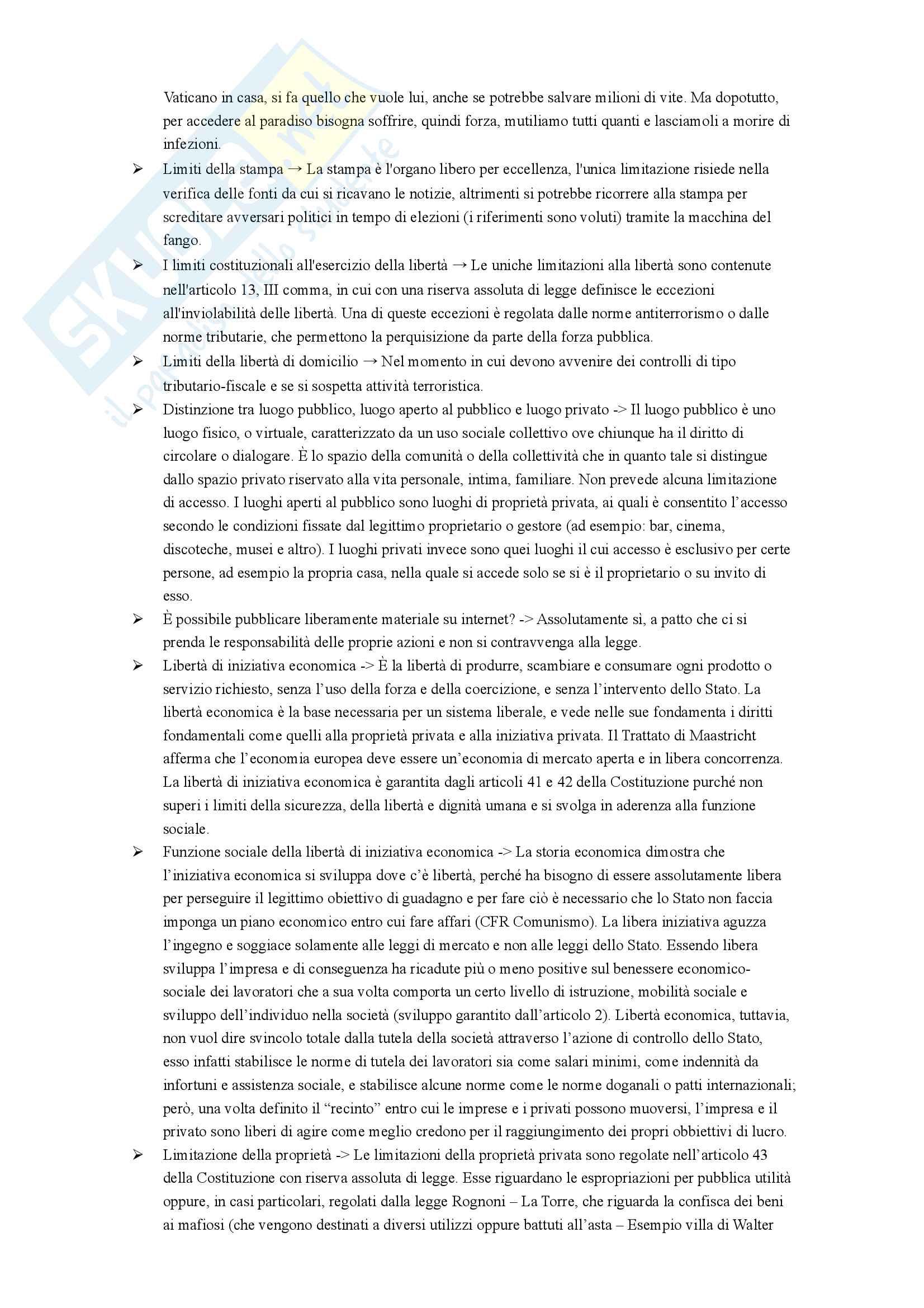 Domande e Risposte Esame Diritto Pubblico Pag. 11