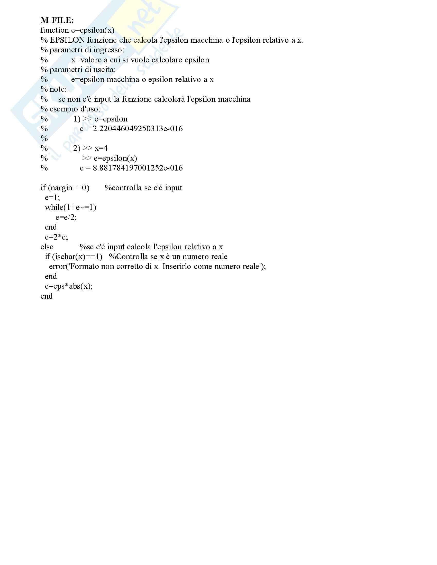 Calcolo Numerico – Elaborato Pag. 6