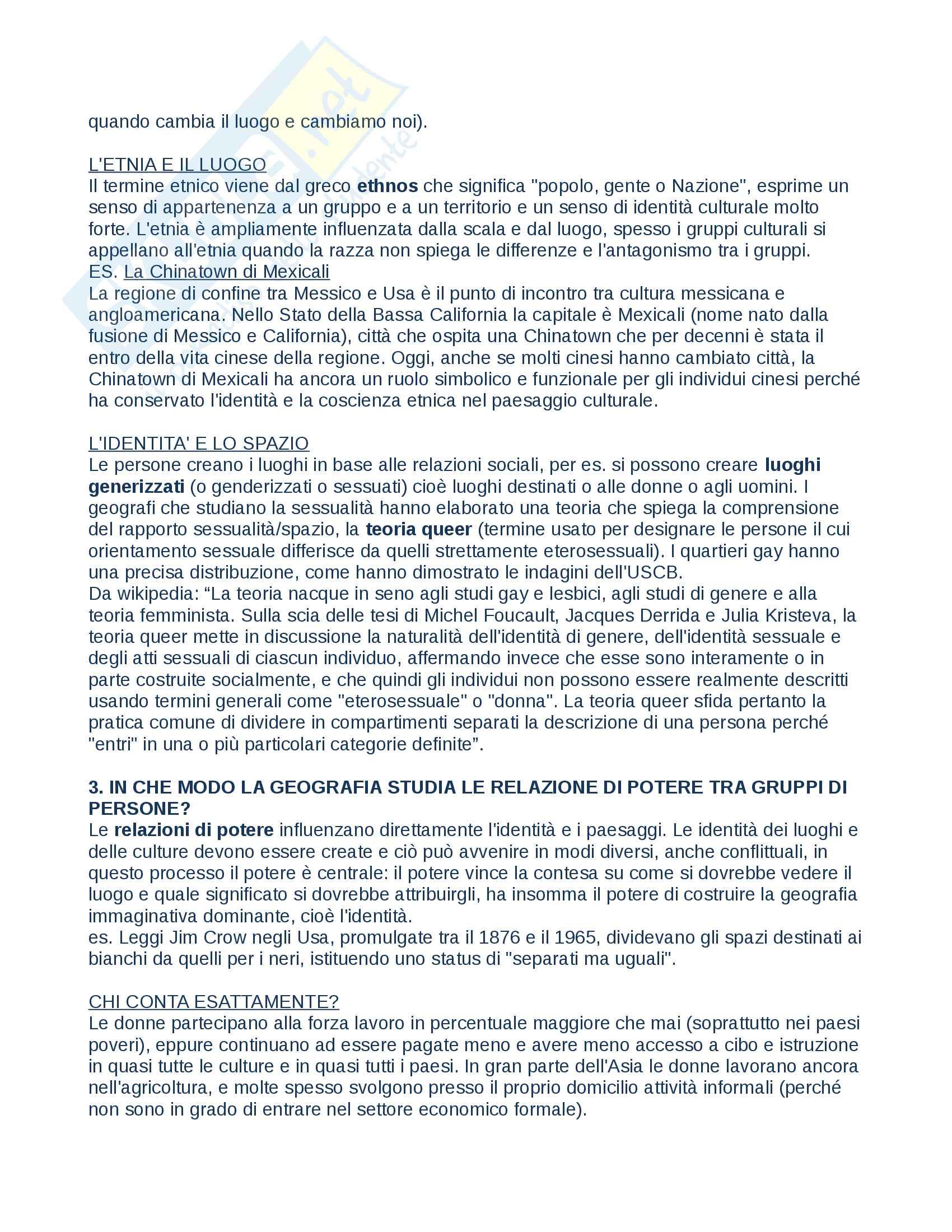 """Riassunto esame Geografia, prof.Lucchesi, libro consigliato """"Geografia umana"""" Pag. 16"""