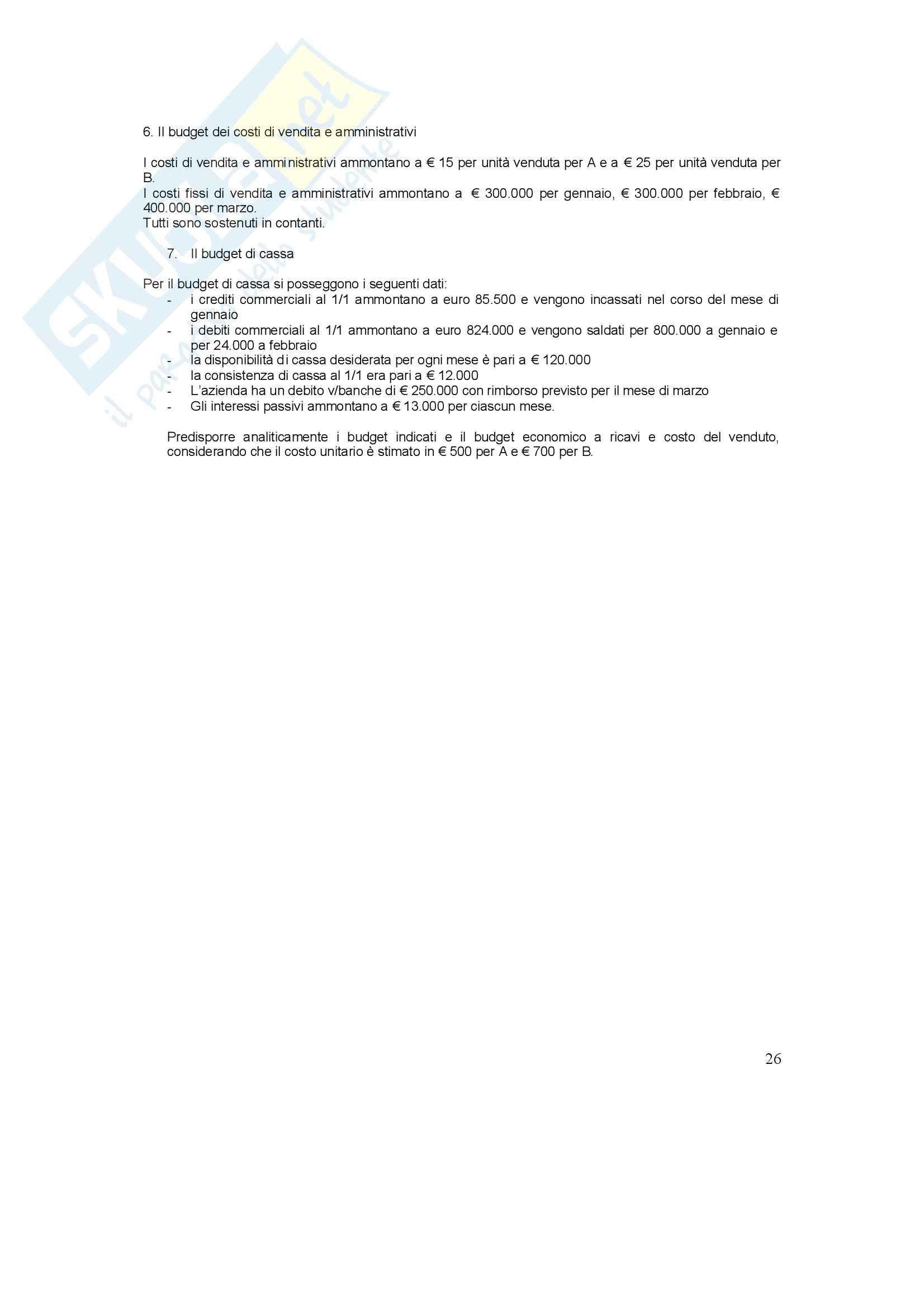 Conto economico - Esercizi Pag. 26