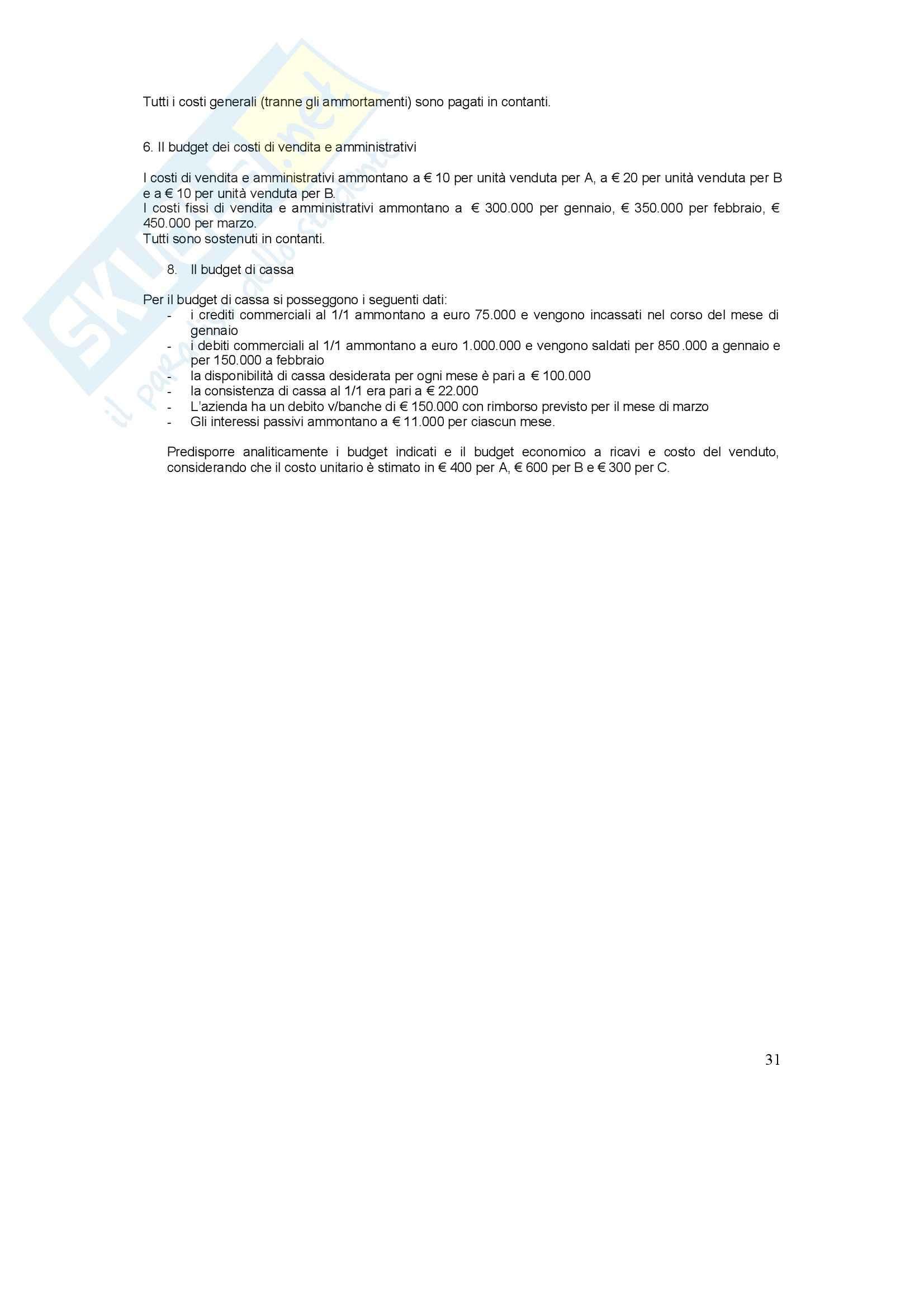 Conto economico - Esercizi Pag. 31