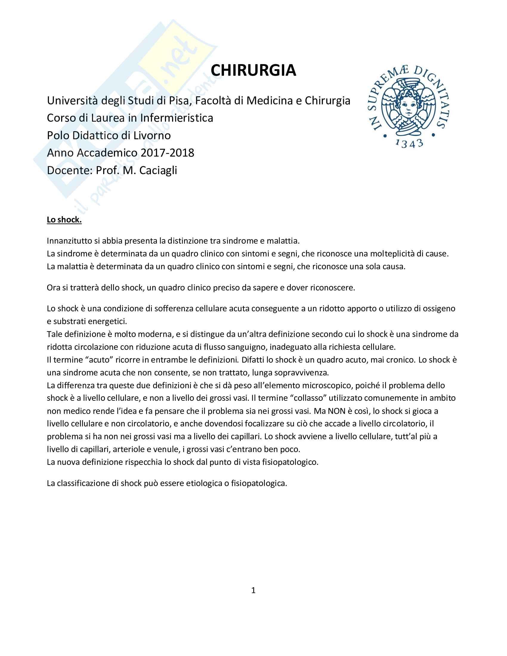 Appunti di chirurgia, discipline chirurgico-infermieristiche - per infermieristica