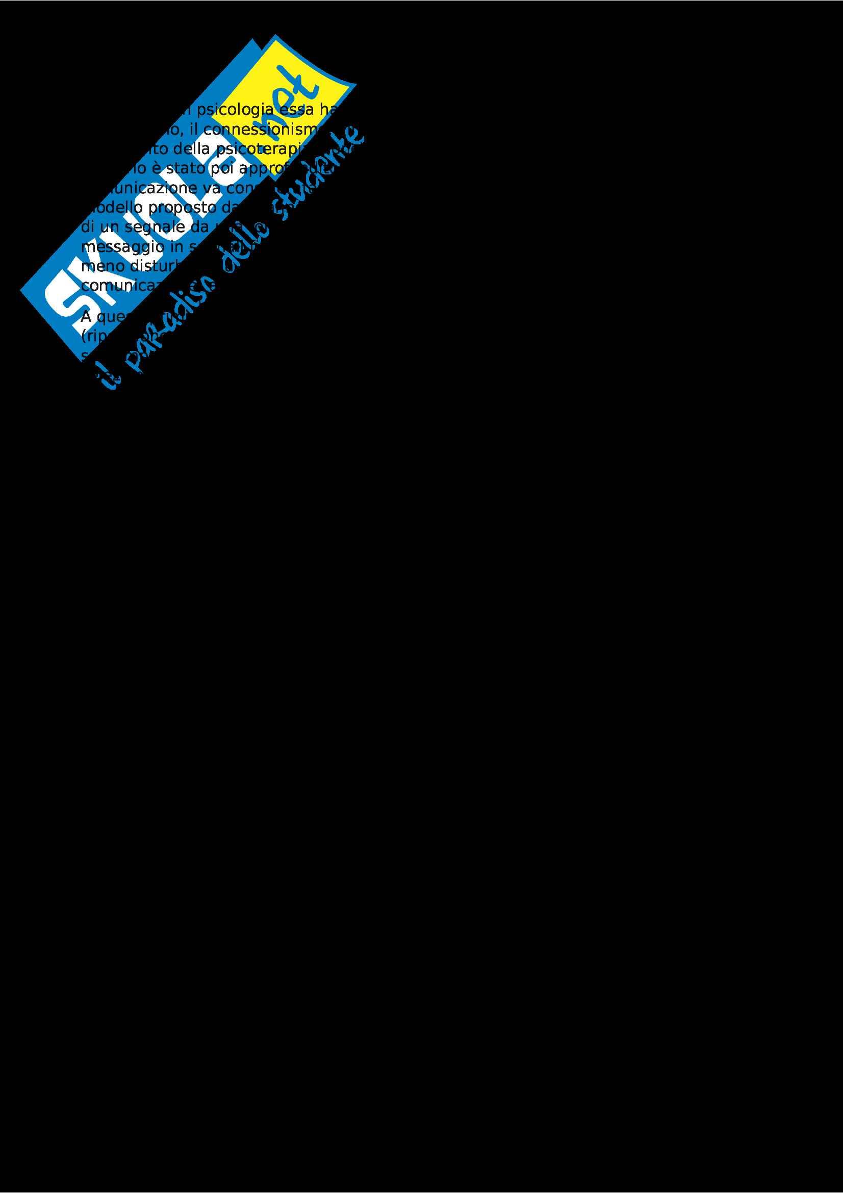 Riassunto esame Psicologia della Comunicazione, prof. Poggi, libro consigliato Fondamenti di Psicologia, Anolli Pag. 2