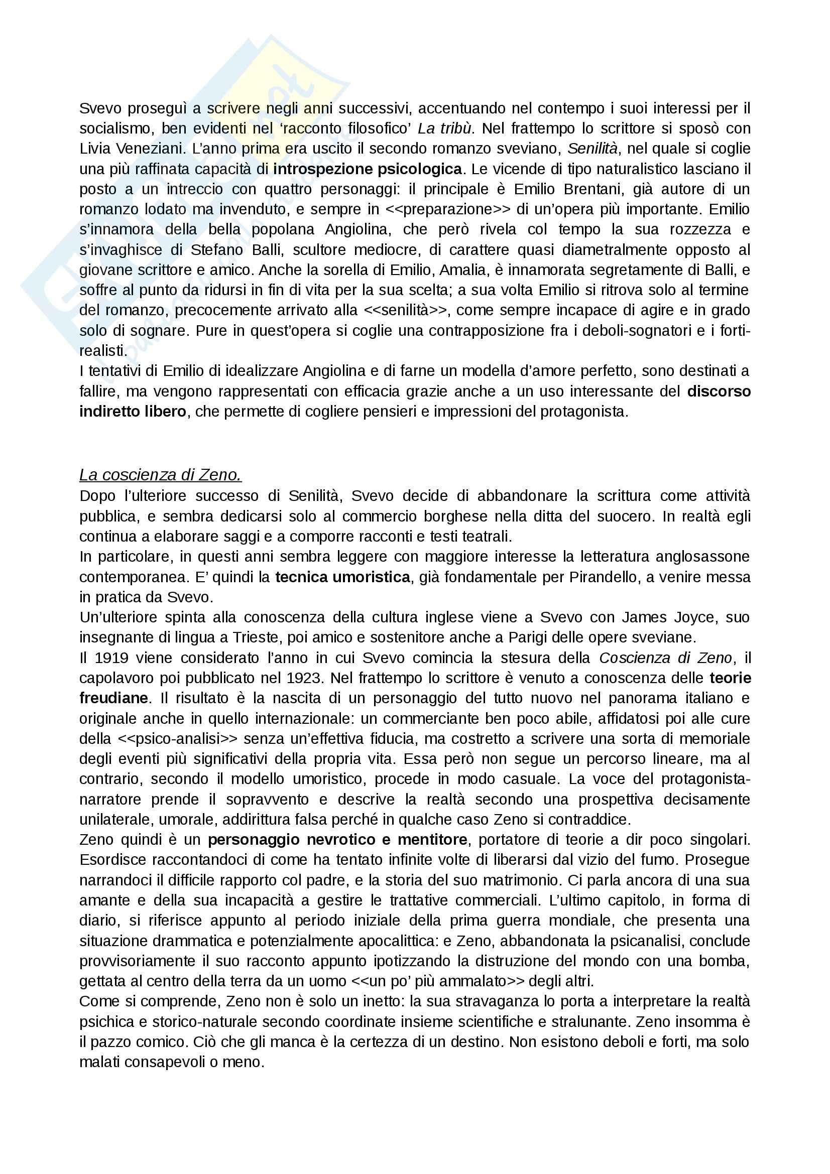 Novecento, Letteratura italiana contemporanea Pag. 11