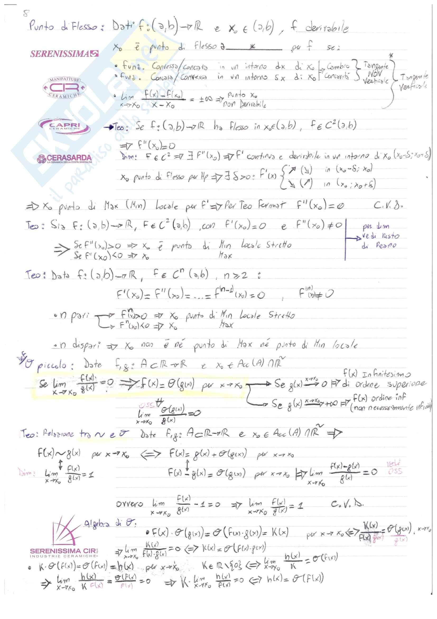 Analisi I Teoria: Definizioni e Teoremi Pag. 11