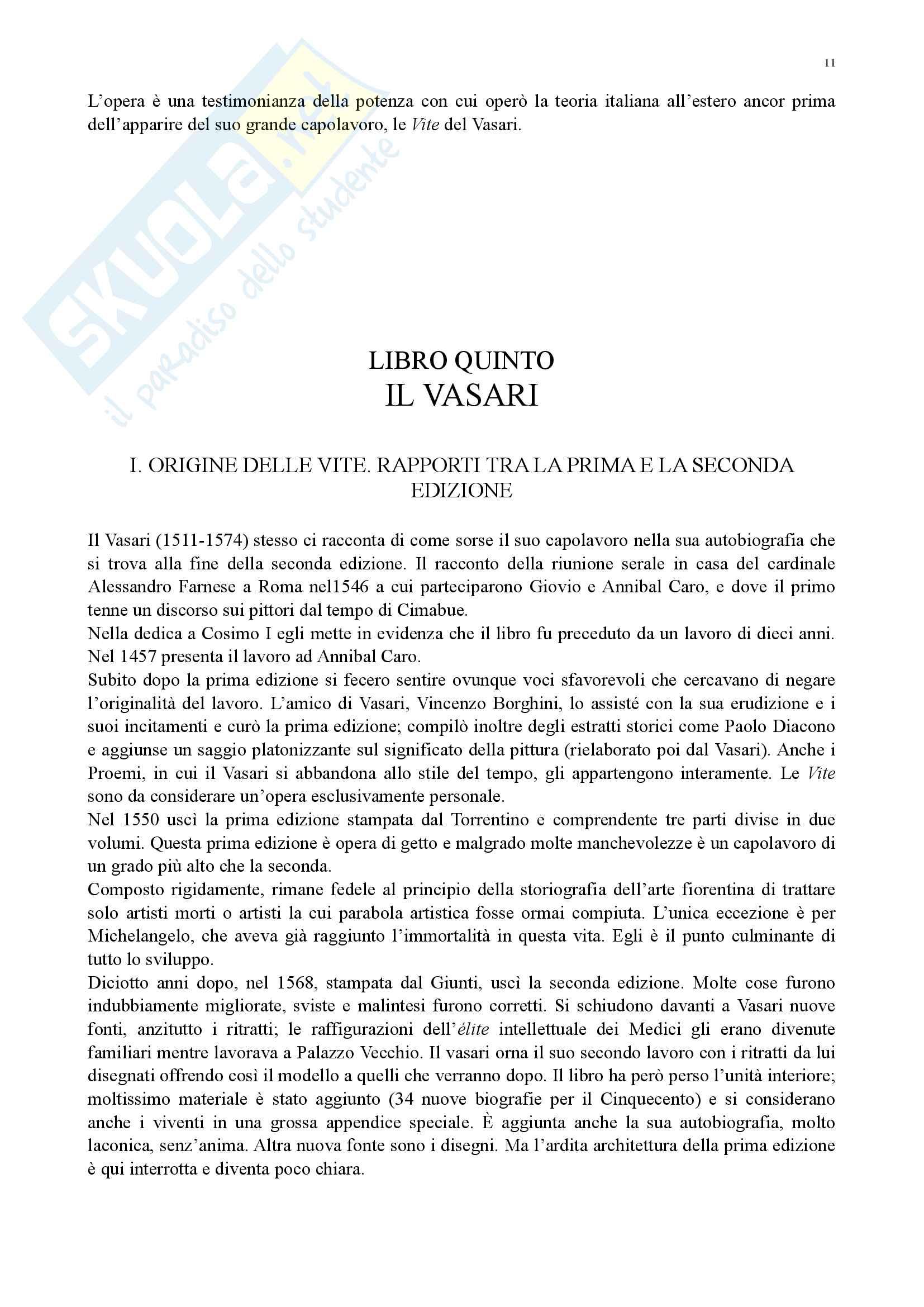 Riassunto esame storia della critica d'arte, prof. Pigozzi, libro consigliato Schlosser - La Letteratura Artistica Pag. 11