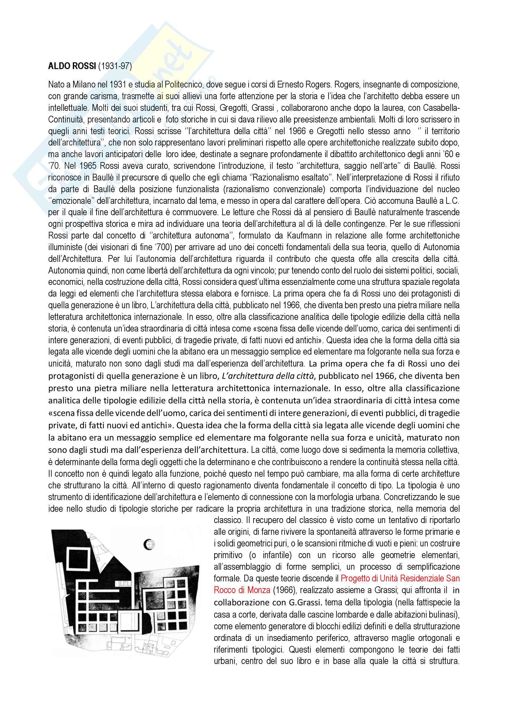 Appunti di Storia Architettura Contemporanea: Parte Quarta