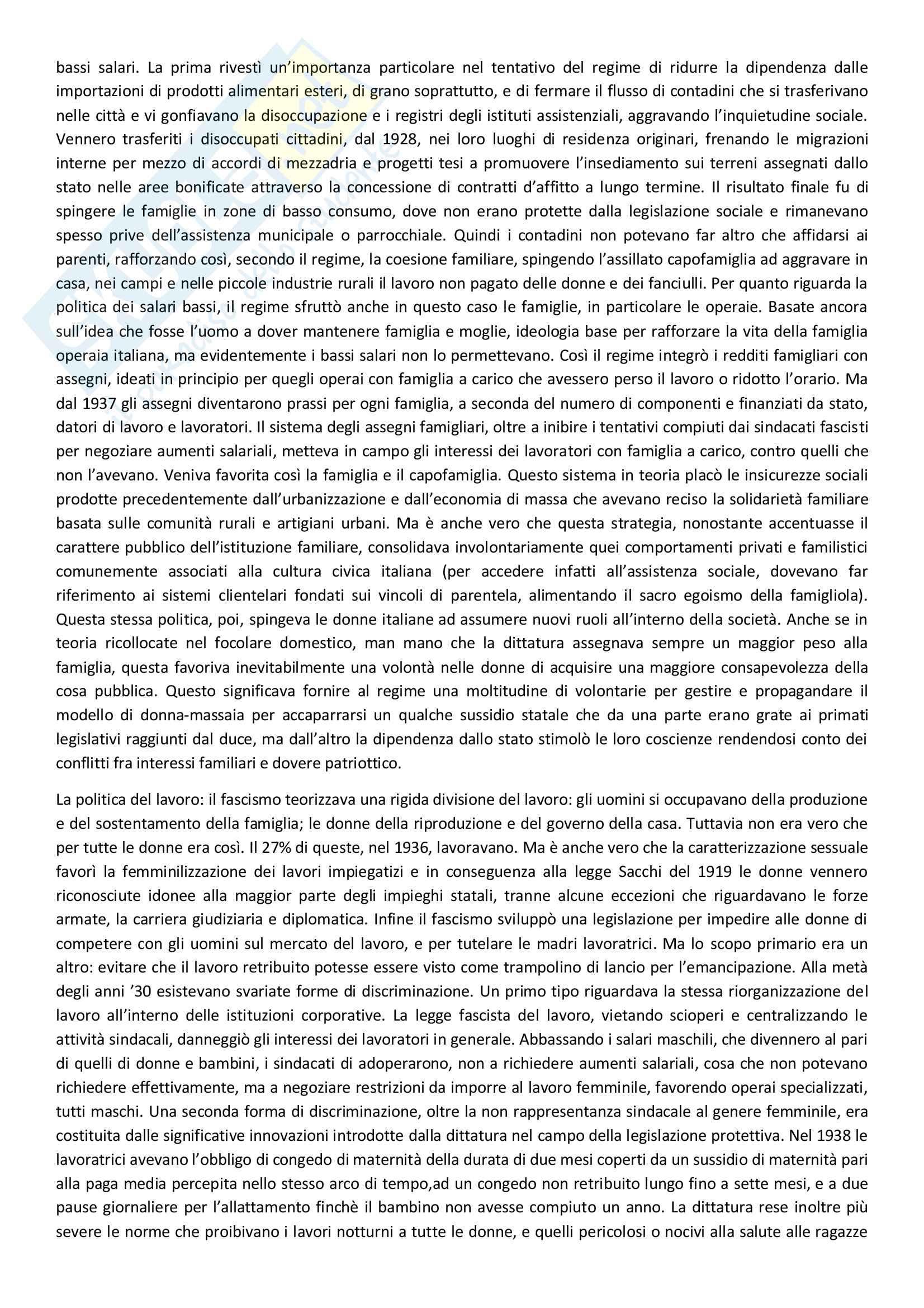 Sunto di storia contemporanea, docente Adorni, libro consigliato Storia delle donne in Occidente - Il Novecento, Autore Duby, Perrot Pag. 16