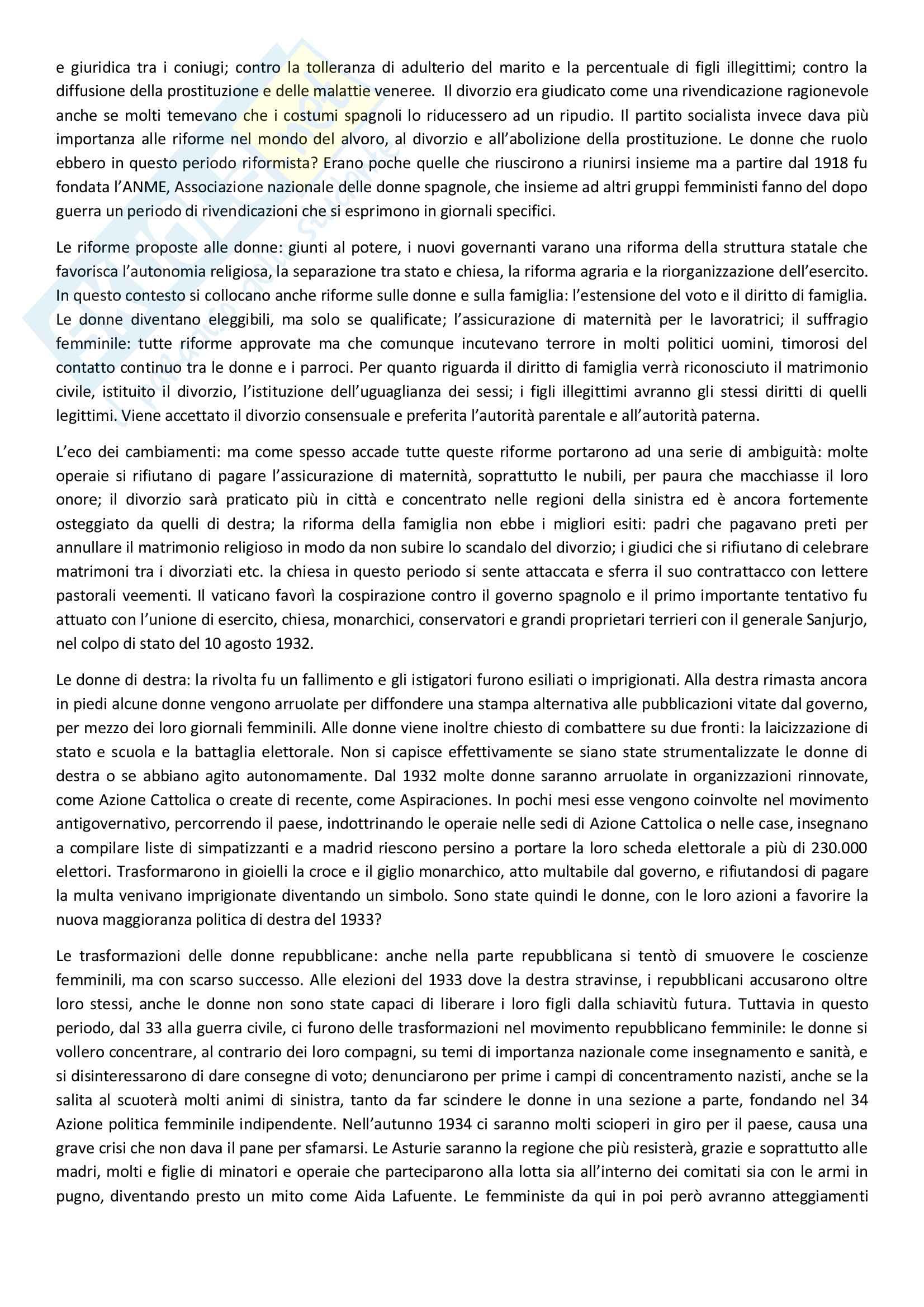 Sunto di storia contemporanea, docente Adorni, libro consigliato Storia delle donne in Occidente - Il Novecento, Autore Duby, Perrot Pag. 21
