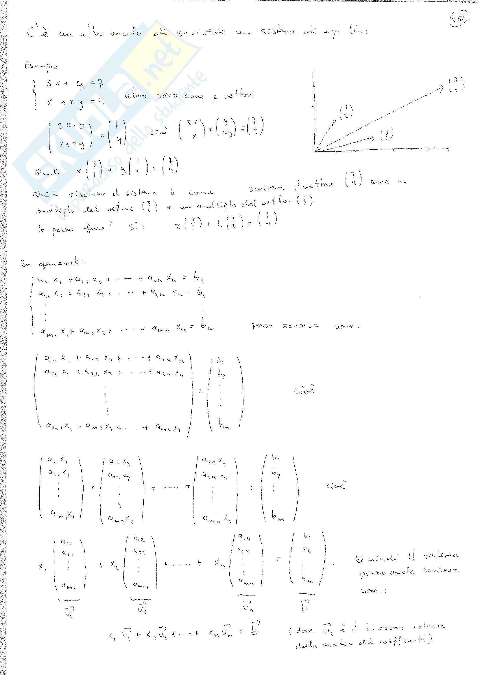 Matematica discreta - sistemi di equazioni lineari Pag. 11