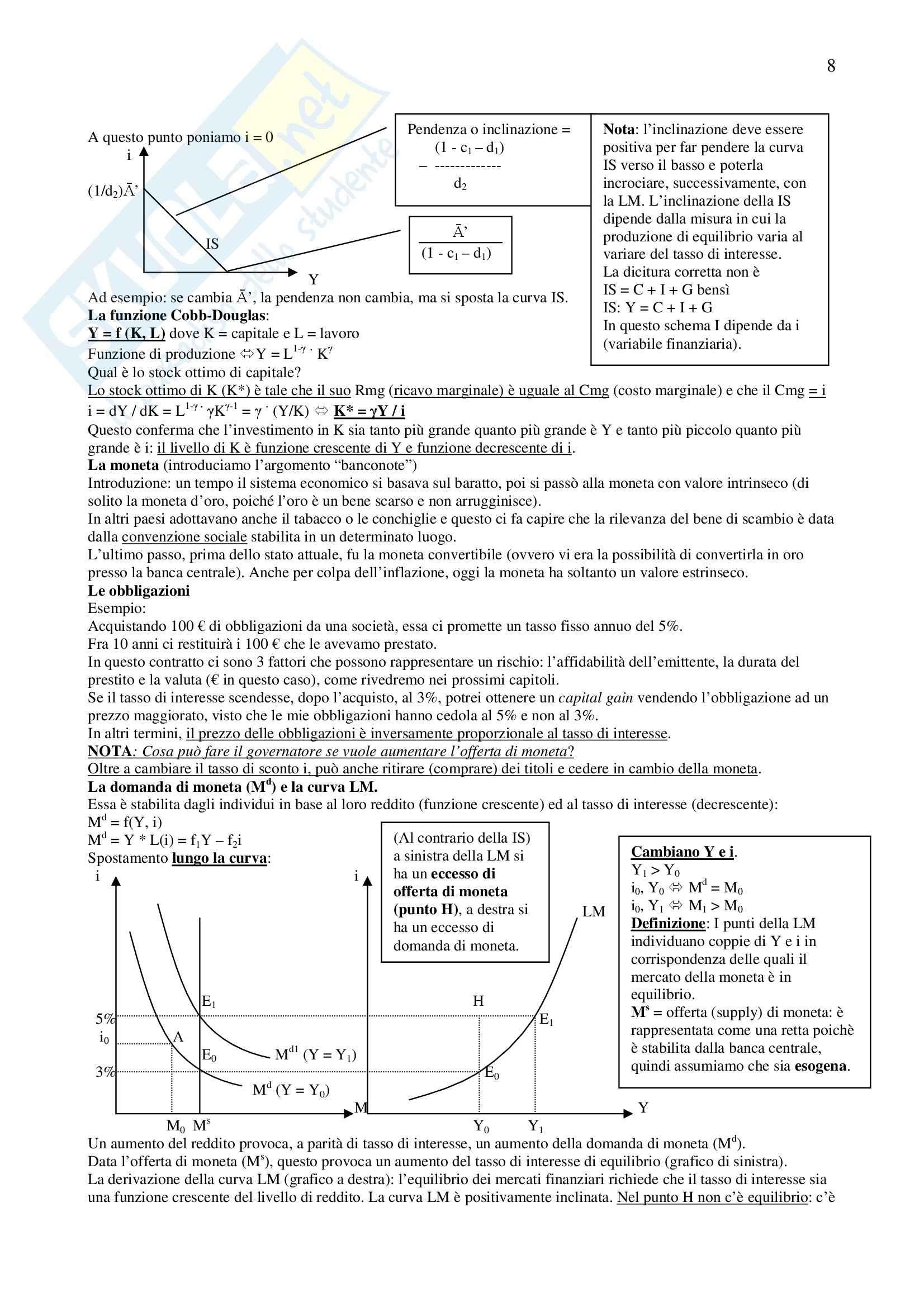 Riassunto esame Economia Politica II, prof. Conti, libro consigliato Macroeconomia, Blanchard Pag. 41