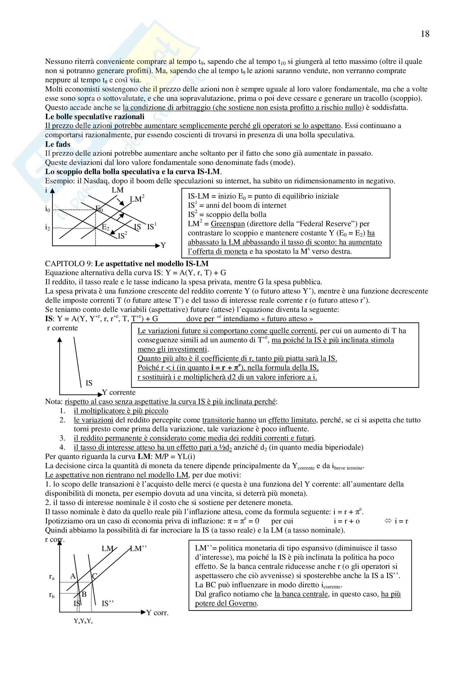 Riassunto esame Economia Politica II, prof. Conti, libro consigliato Macroeconomia, Blanchard Pag. 51