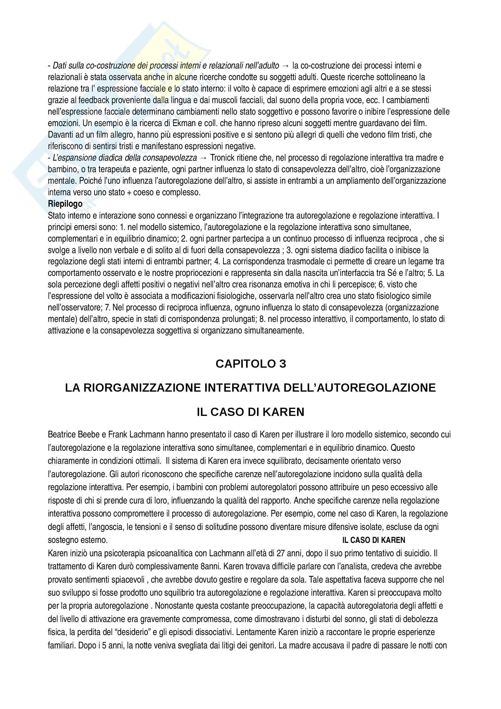 Riassunto esame Modelli psicodinamici, prof. Giannone, libro consigliato Infant Research di Jurist, Slade, Bergner Pag. 6