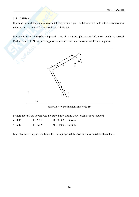 Teoria delle strutture - Analisi di un braccio meccanico Pag. 11