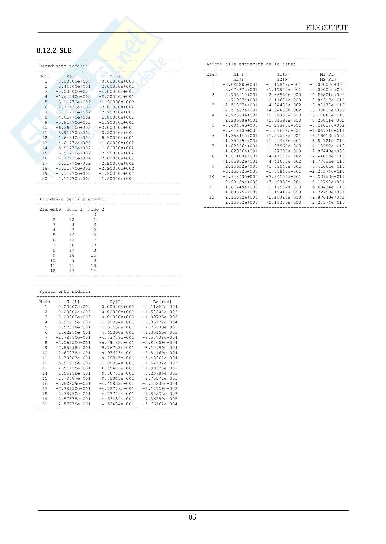 Teoria delle strutture - Analisi di un braccio meccanico Pag. 86