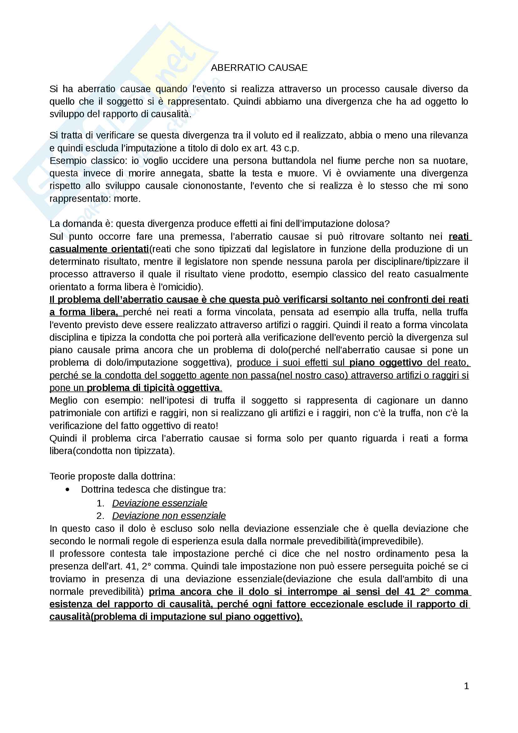 appunto M. Trapani Diritto Penale II