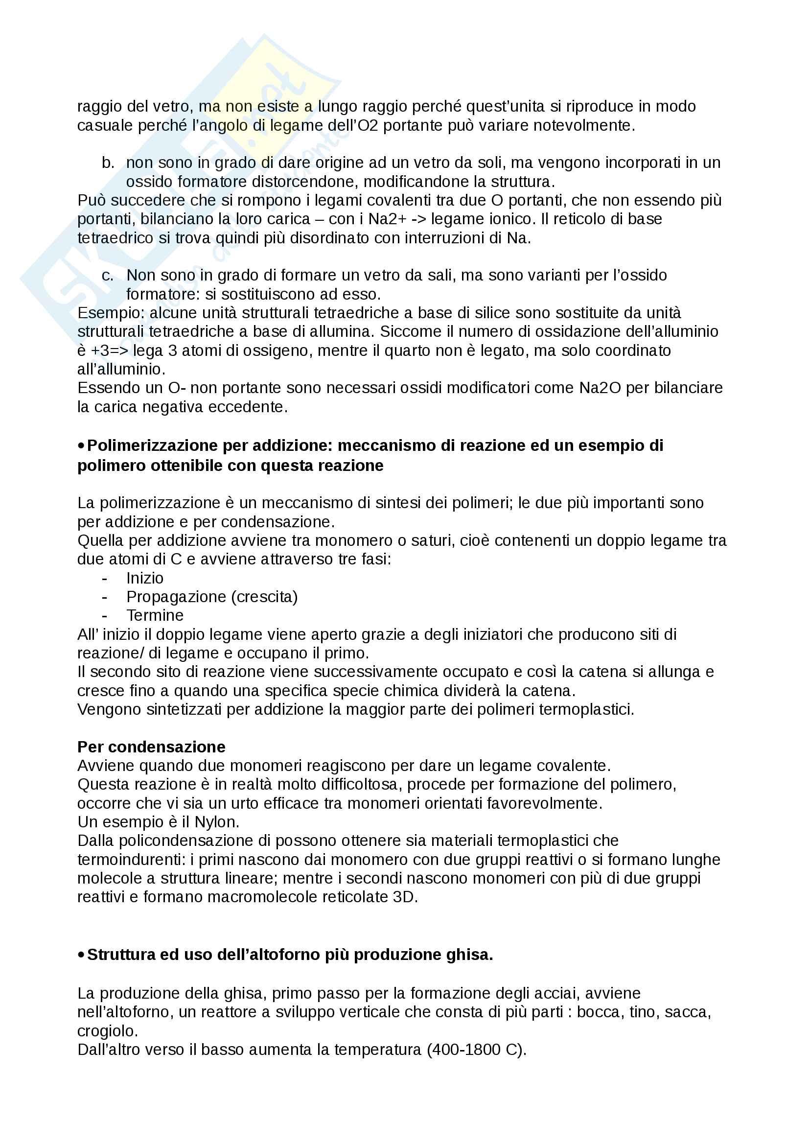 Scienze dei materiali: domande esame - Verné Pag. 6