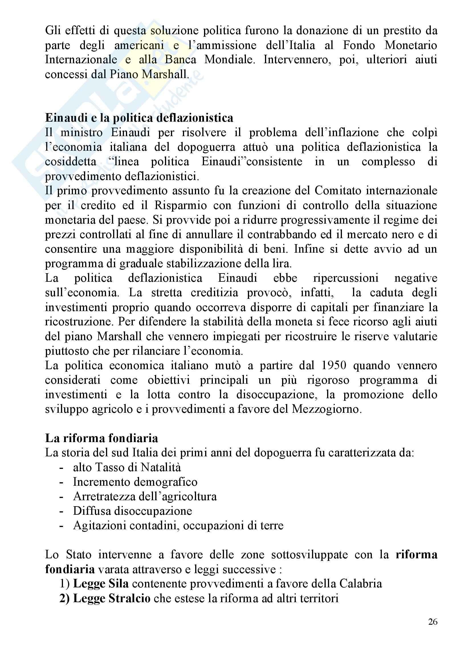 Storia Contemporanea - Appunti Pag. 26