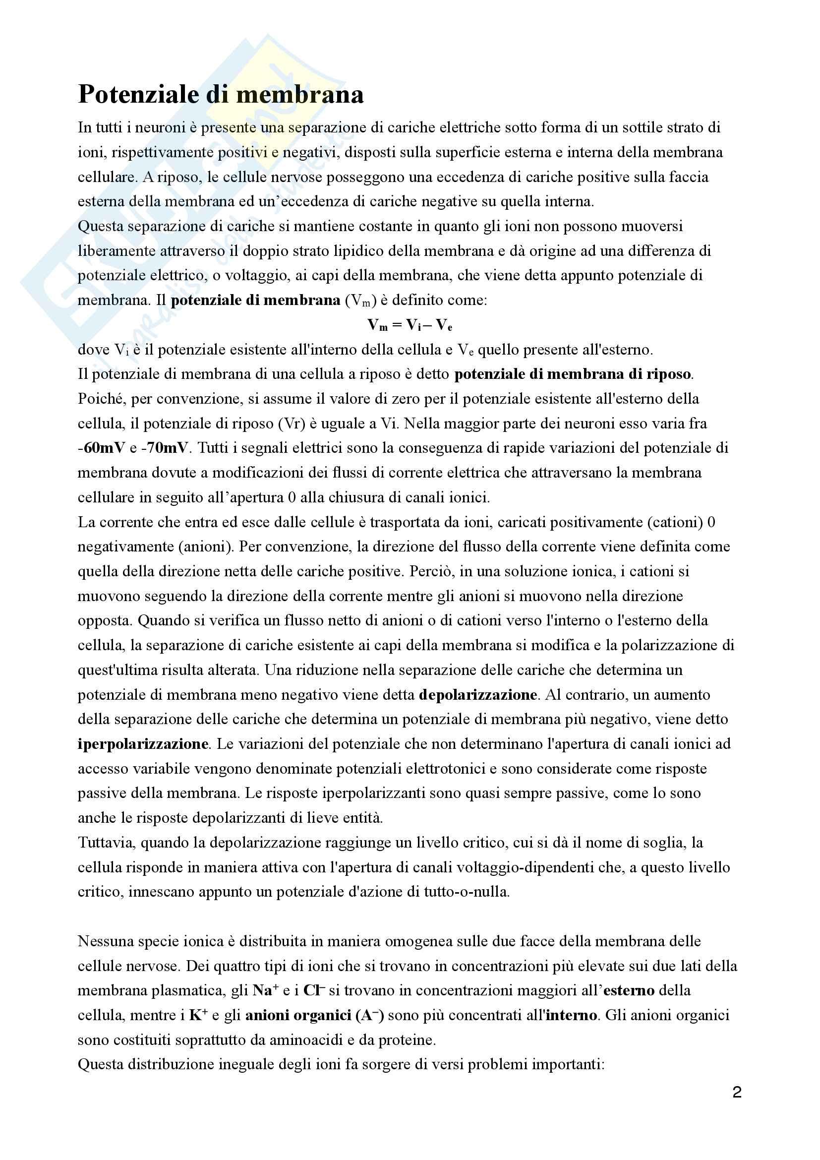 appunto P. Cavallari Fisiologia umana