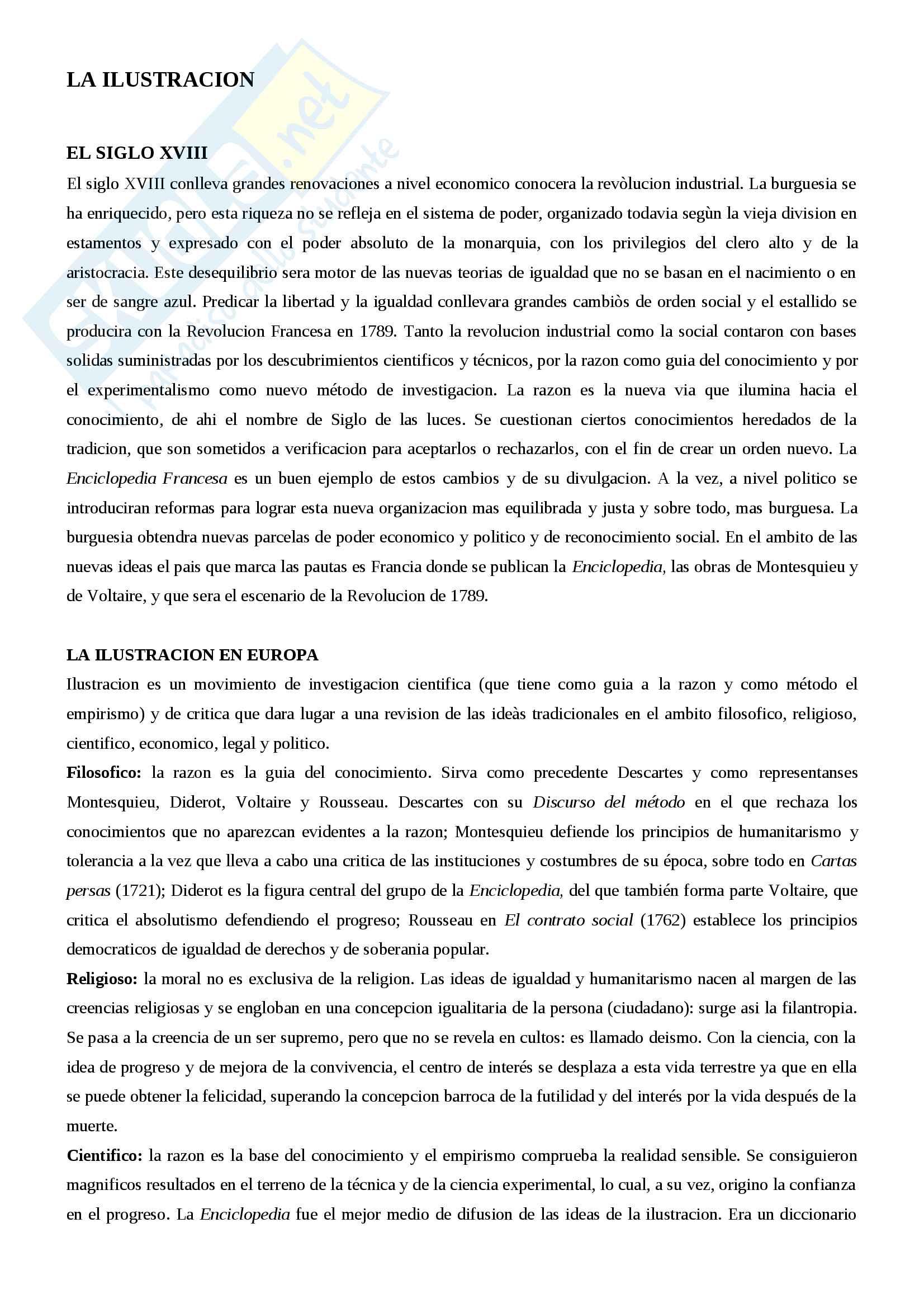 Riassunto letteratura spagnola III, prof.ssa Giovannini, libro consigliato Historia de la literatura espanola, Canavaggio