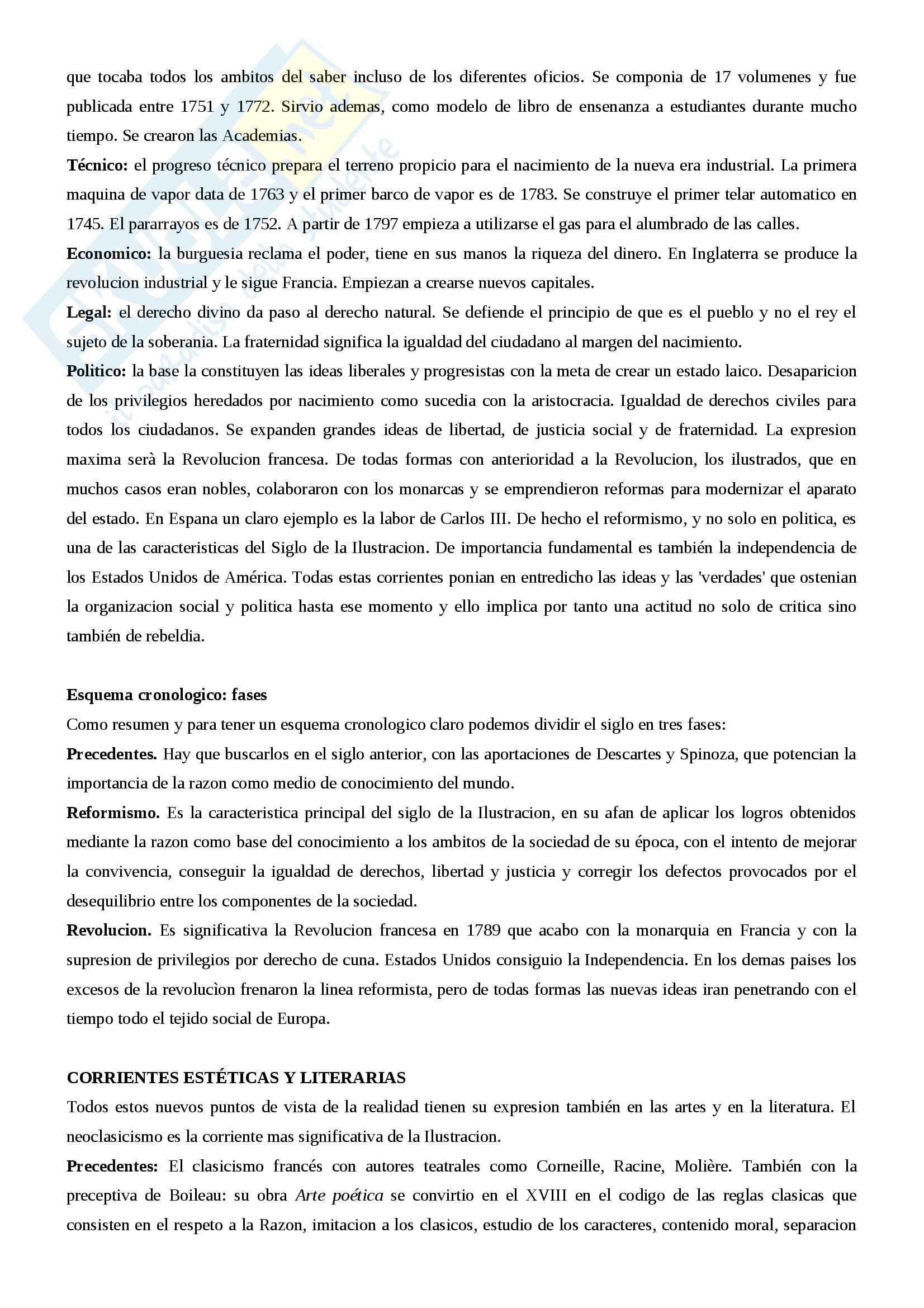Riassunto letteratura spagnola III, prof.ssa Giovannini, libro consigliato Historia de la literatura espanola, Canavaggio Pag. 2