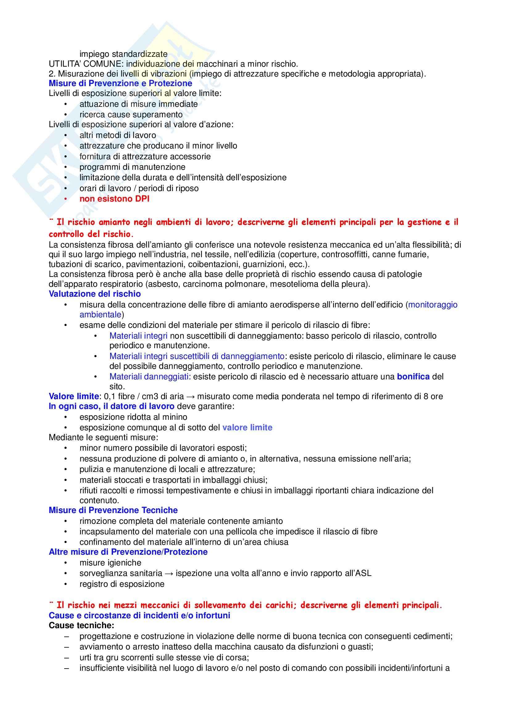 Manutenzione e  sicurezza - Appunti Pag. 16