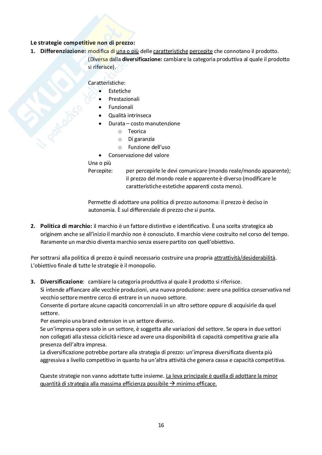 Appunti di Economia e Gestione delle Imprese Industriali (6 CFU) Pag. 16