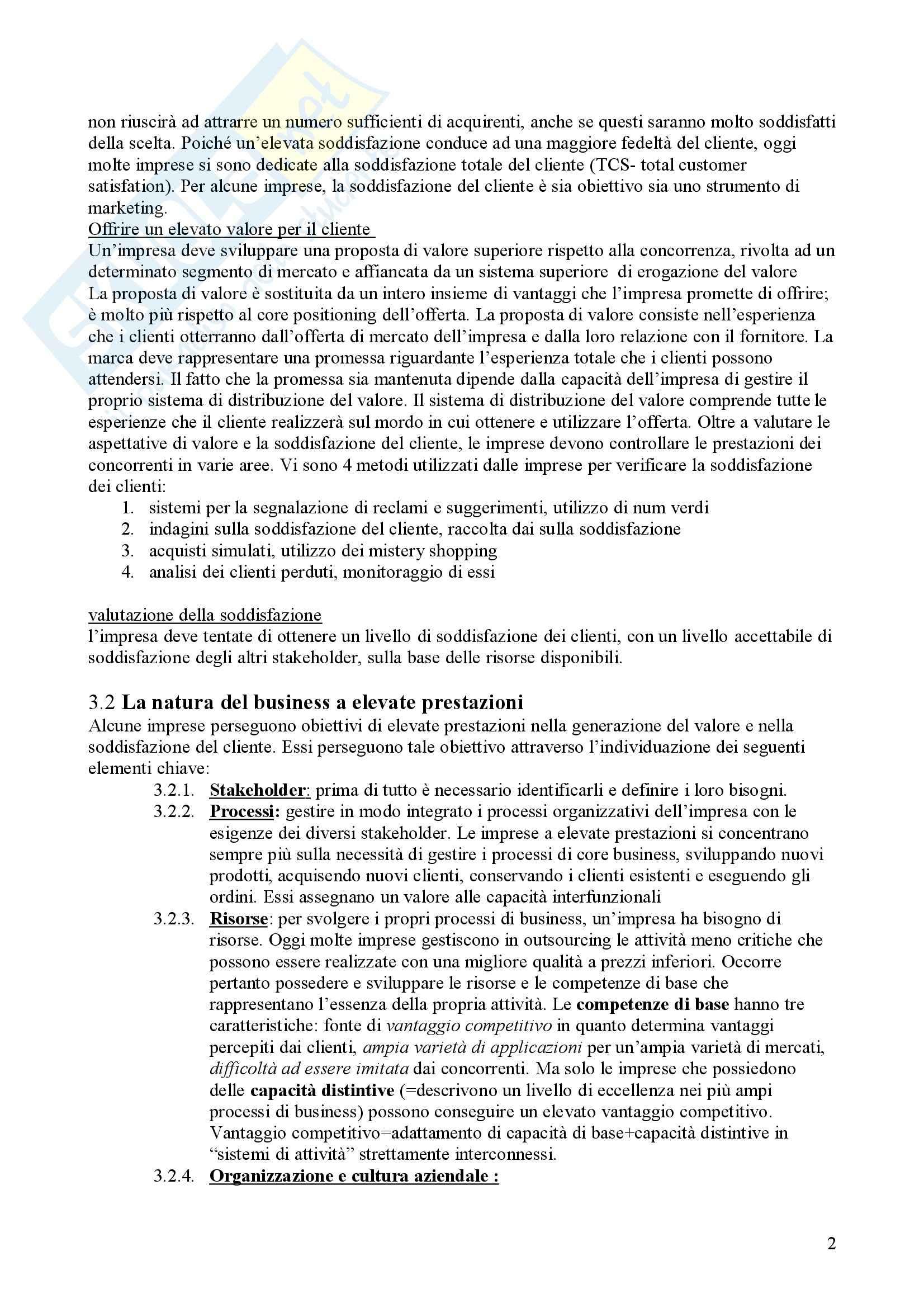 Riassunto esame Strategie di Marketing, prof. Auteri, libro consigliato Marketing management, Kotler Pag. 2