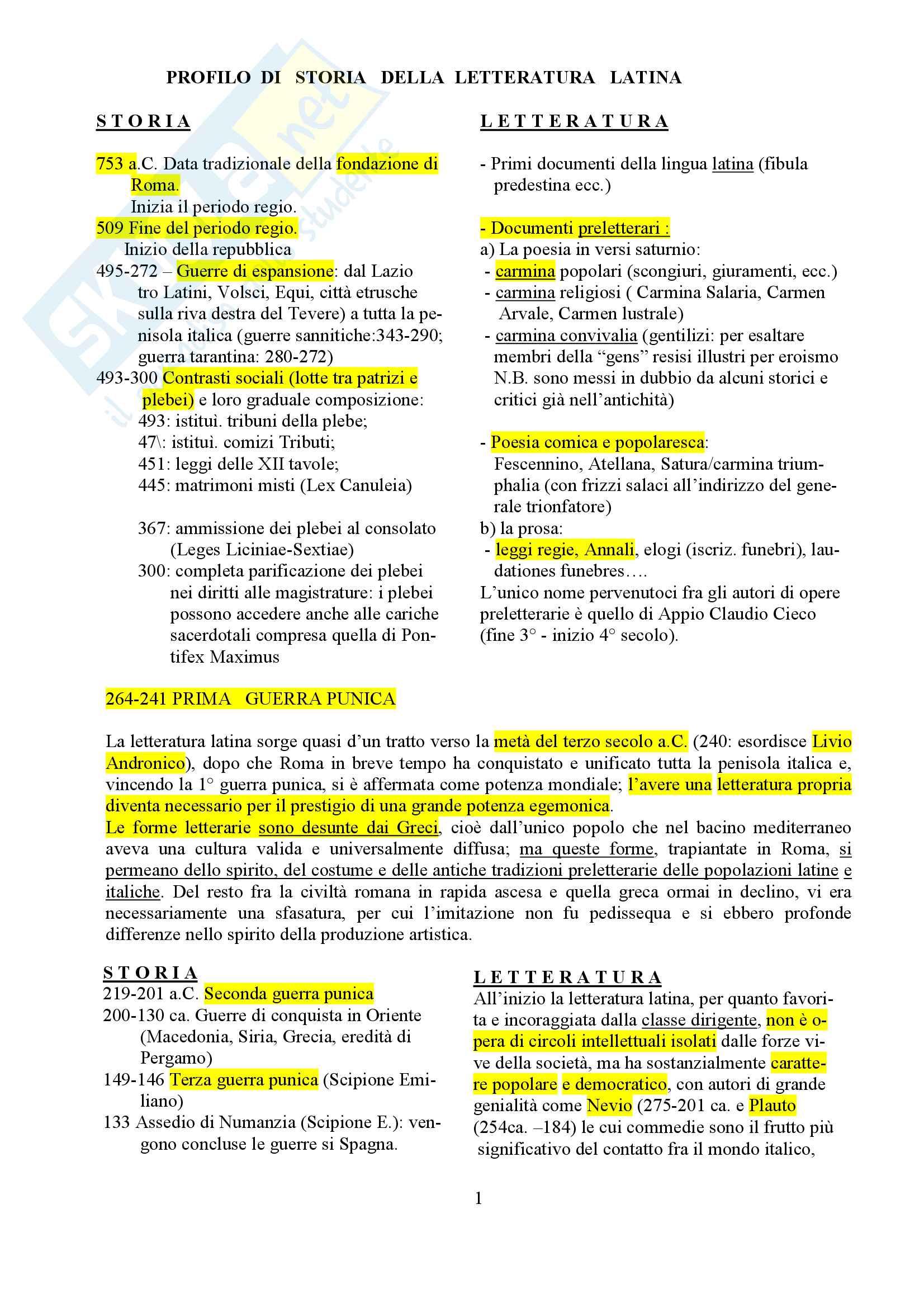 Riassunto esame letteratura latina, docente Dimundo Ciccarelli Santelia, libro consigliato Storia letteraria di Roma, Fedeli