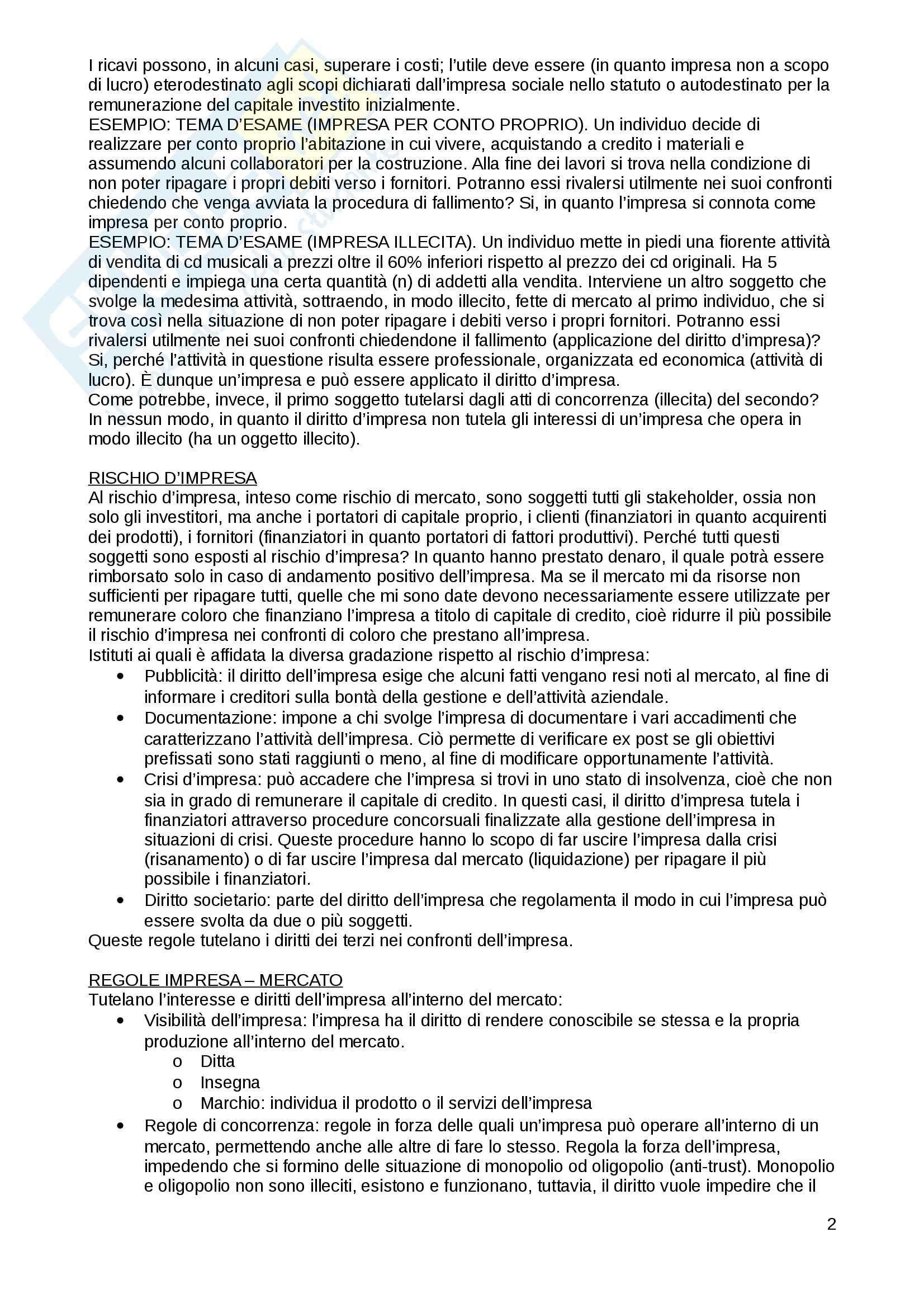 Riassunto esame diritto commerciale, prof. Cetra, libro consigliato Diritto Commerciale, Cian Pag. 2