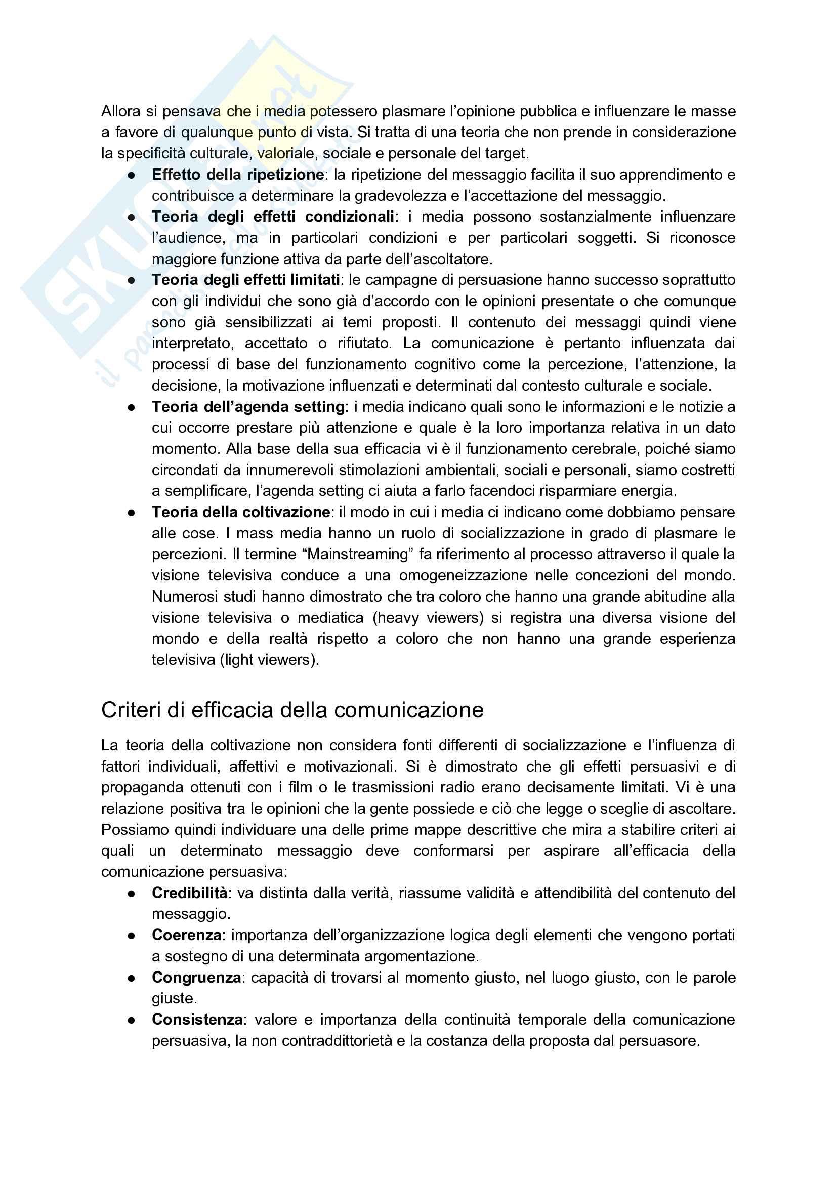 Appunti esame: Psicologia della comunicazione audiovisiva Pag. 2