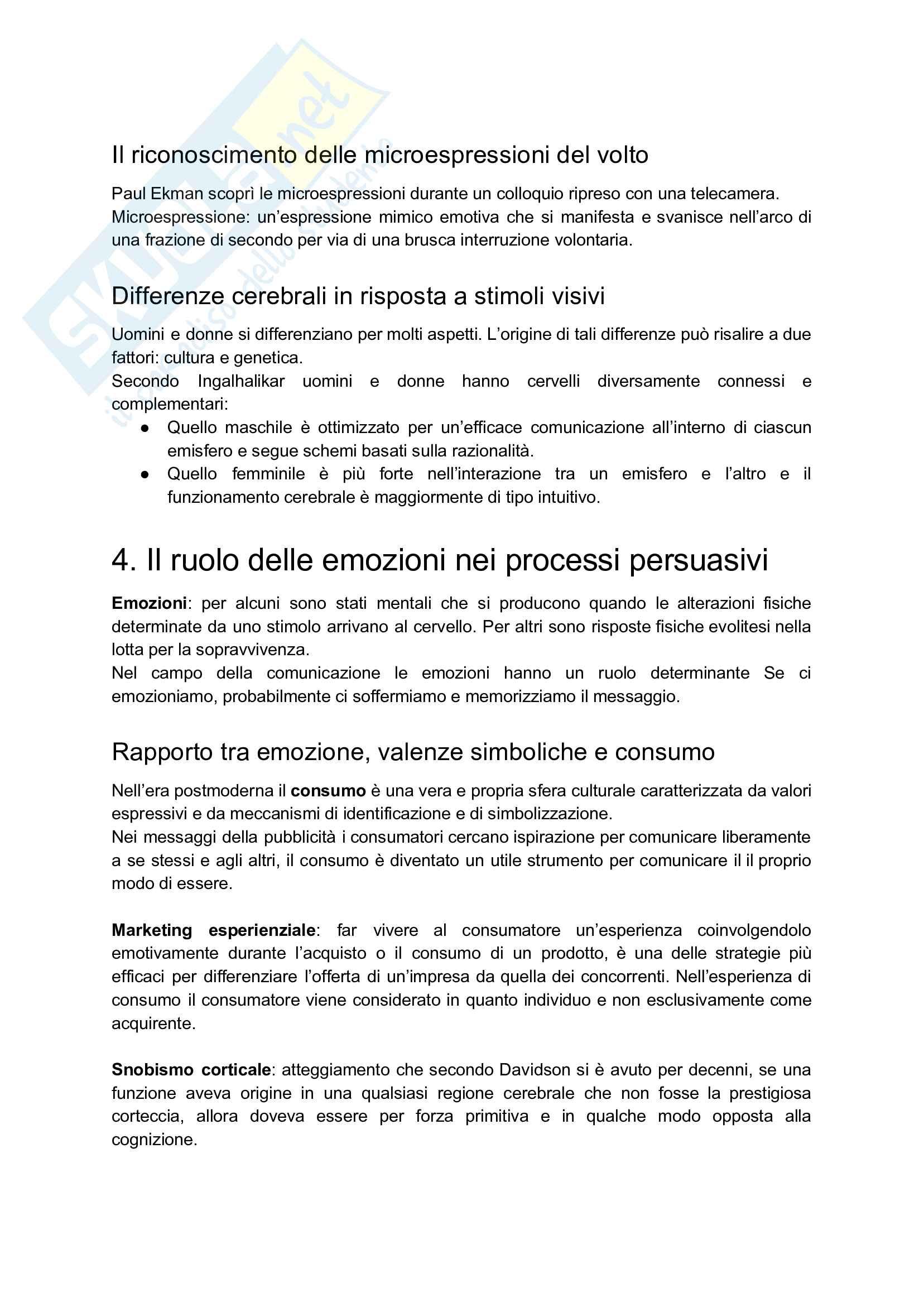 Appunti esame: Psicologia della comunicazione audiovisiva Pag. 21