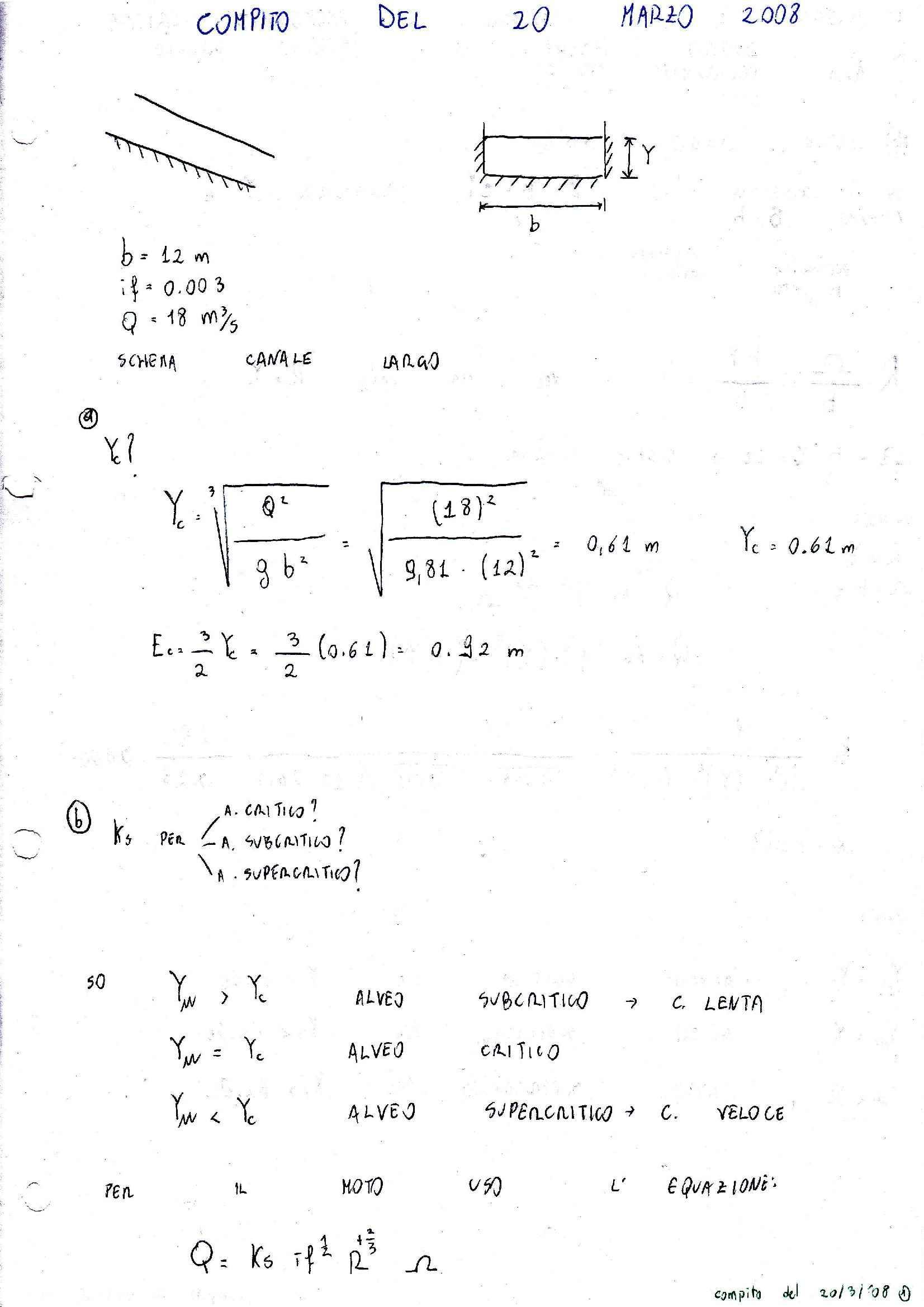 Idraulica - esercizi Pag. 2