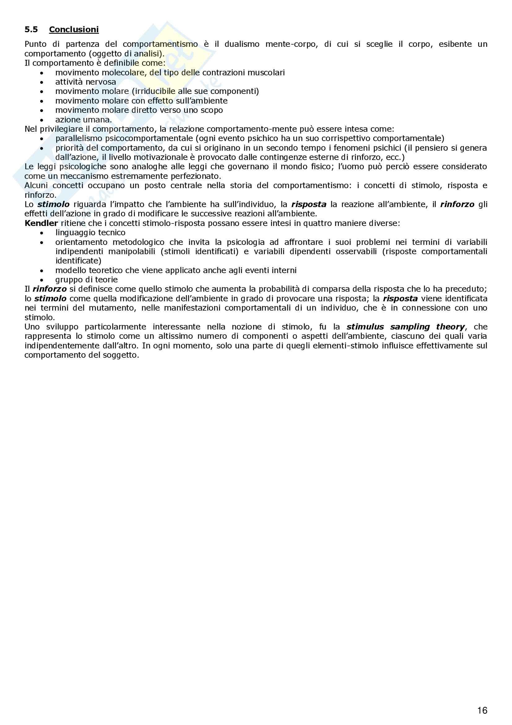 Storia della Psicologia - Appunti Pag. 16