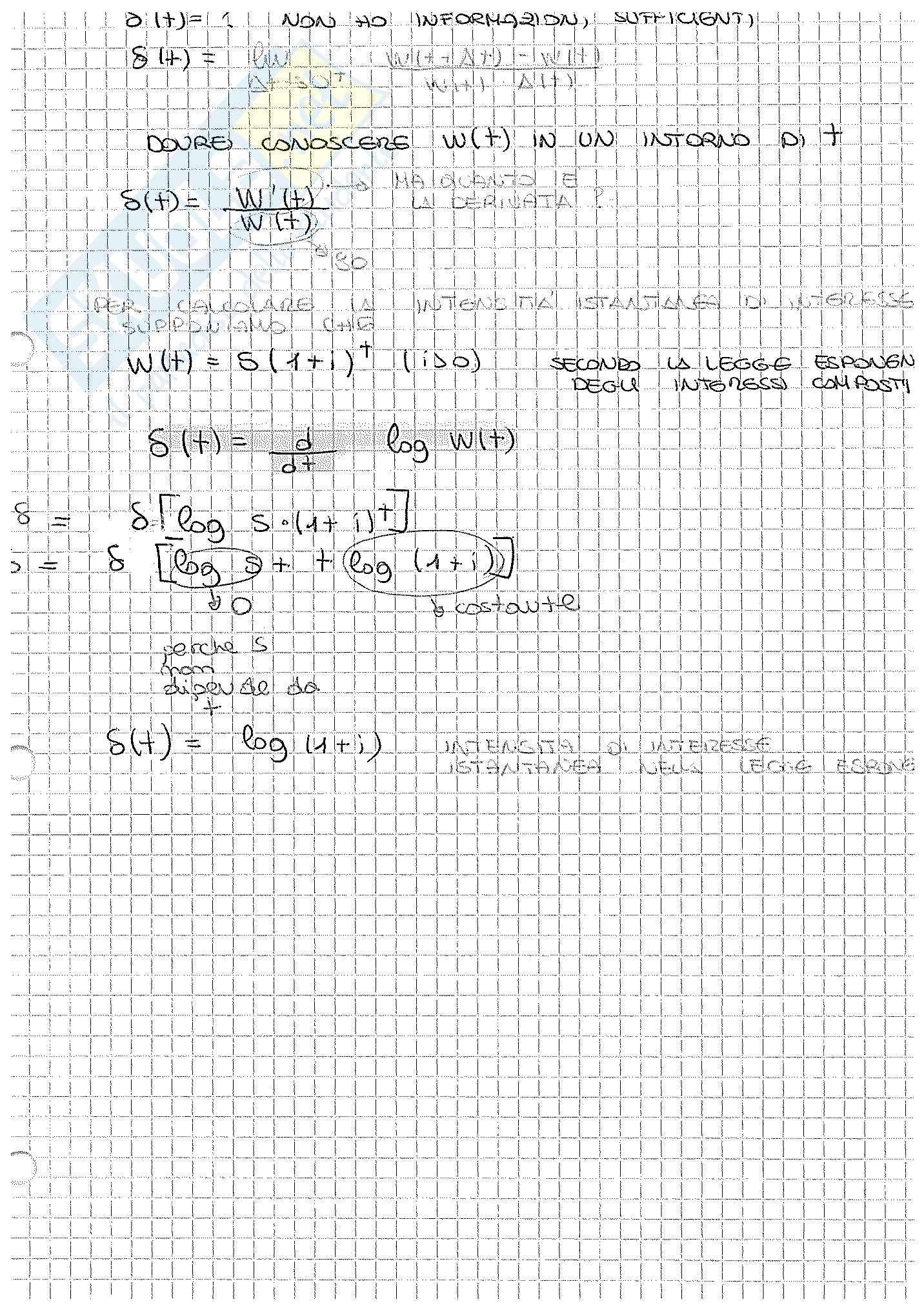 Appunti di Matematica Finanziaria, docente Claudio Pacati Pag. 11