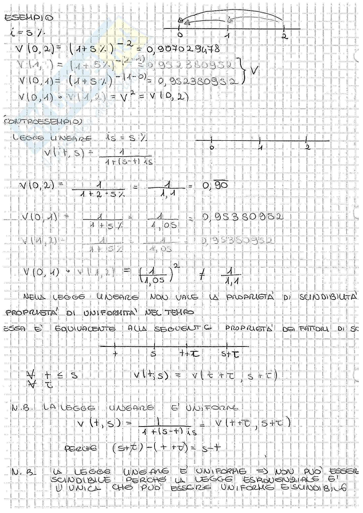 Appunti di Matematica Finanziaria, docente Claudio Pacati Pag. 26
