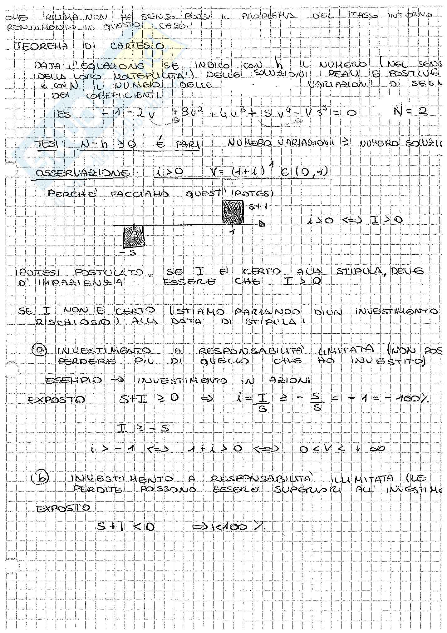 Appunti di Matematica Finanziaria, docente Claudio Pacati Pag. 31