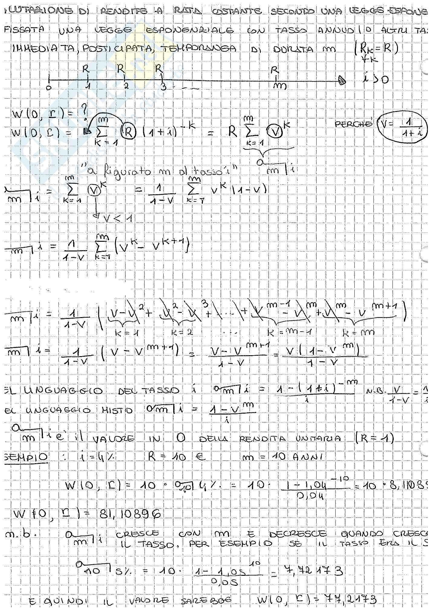 Appunti di Matematica Finanziaria, docente Claudio Pacati Pag. 36