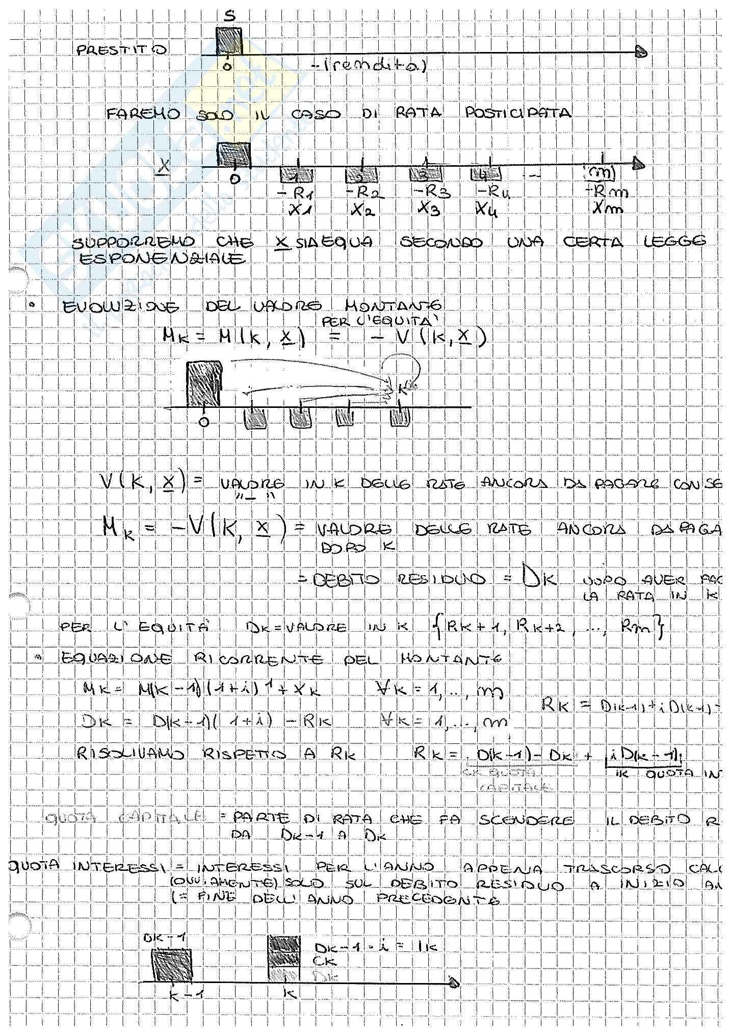 Appunti di Matematica Finanziaria, docente Claudio Pacati Pag. 41