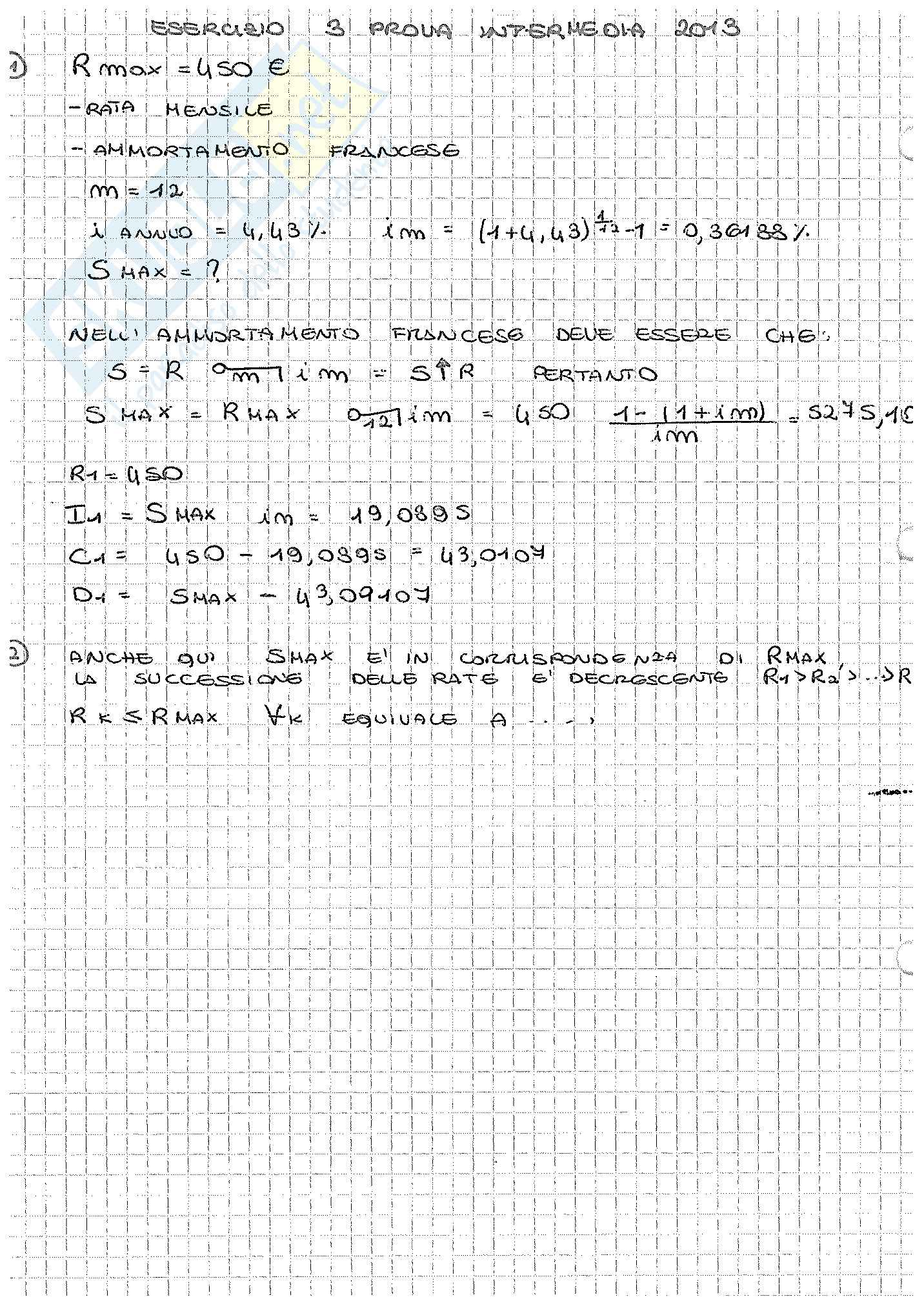 Appunti di Matematica Finanziaria, docente Claudio Pacati Pag. 46