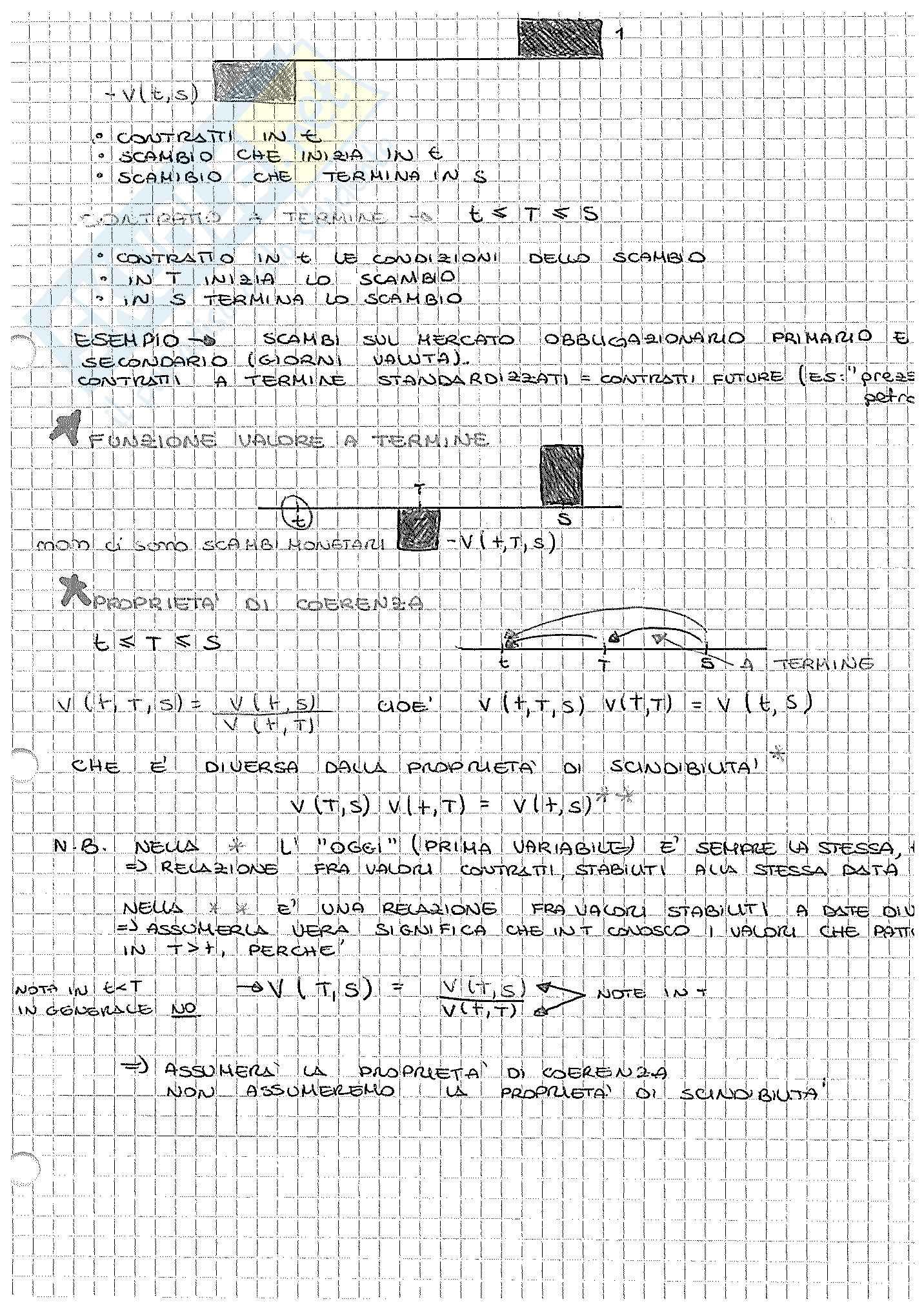 Appunti di Matematica Finanziaria, docente Claudio Pacati Pag. 51