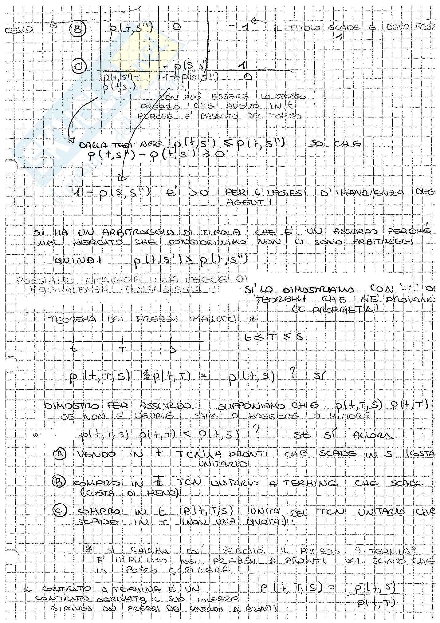 Appunti di Matematica Finanziaria, docente Claudio Pacati Pag. 61