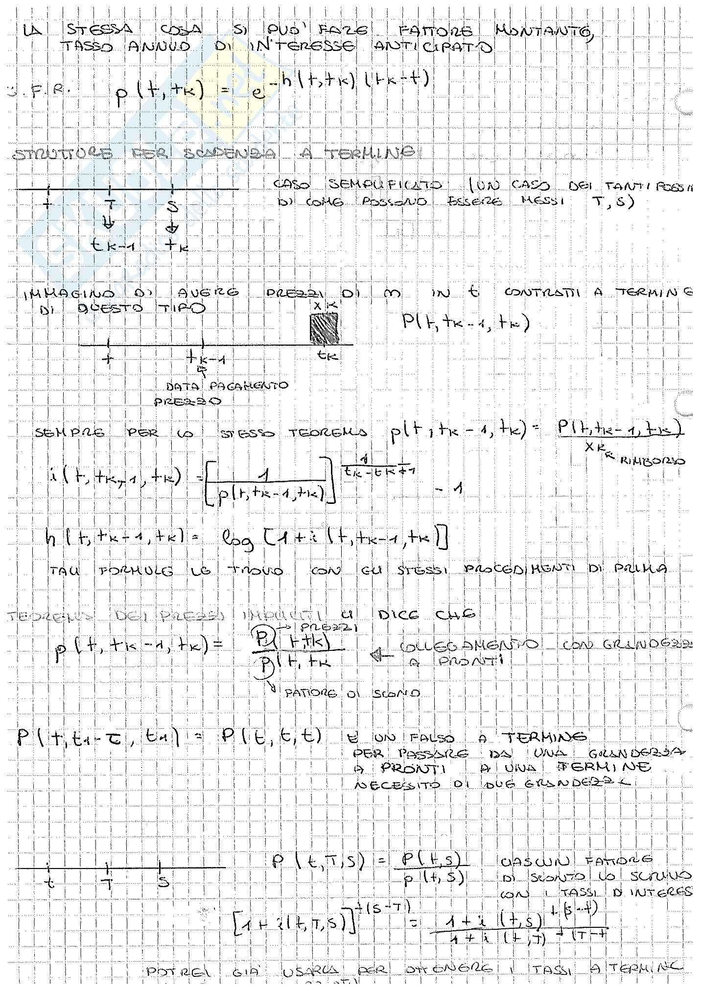 Appunti di Matematica Finanziaria, docente Claudio Pacati Pag. 66