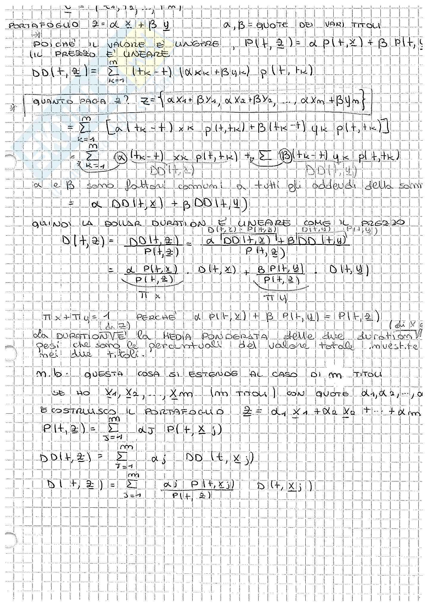 Appunti di Matematica Finanziaria, docente Claudio Pacati Pag. 71