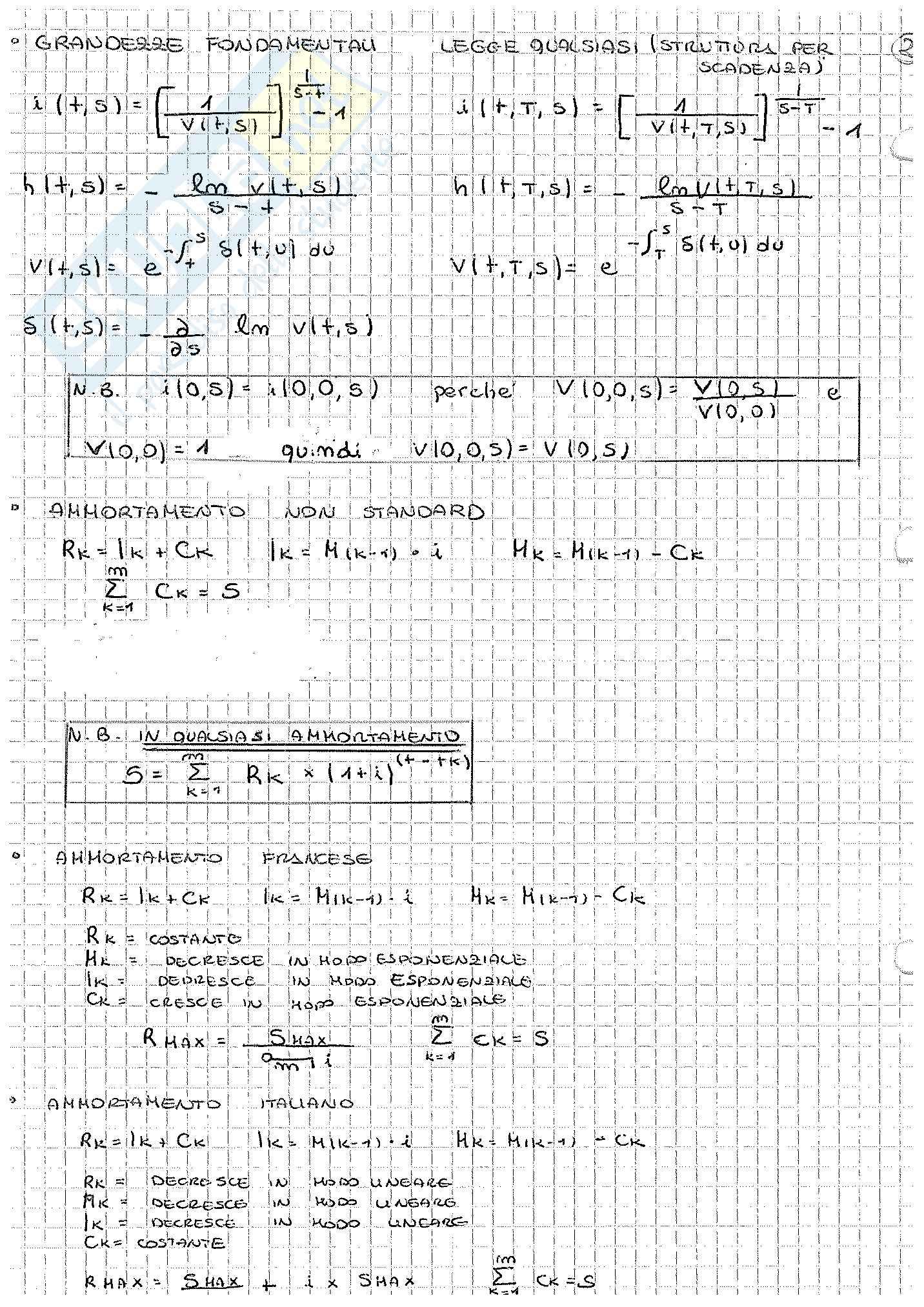Appunti di Matematica Finanziaria, docente Claudio Pacati Pag. 86