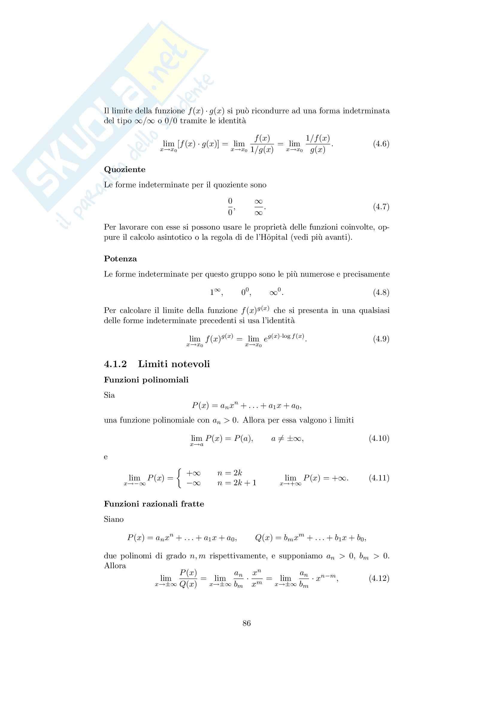 Analisi matematica 1 - Note ed esercizi svolti sui Limiti di Funzioni Pag. 2