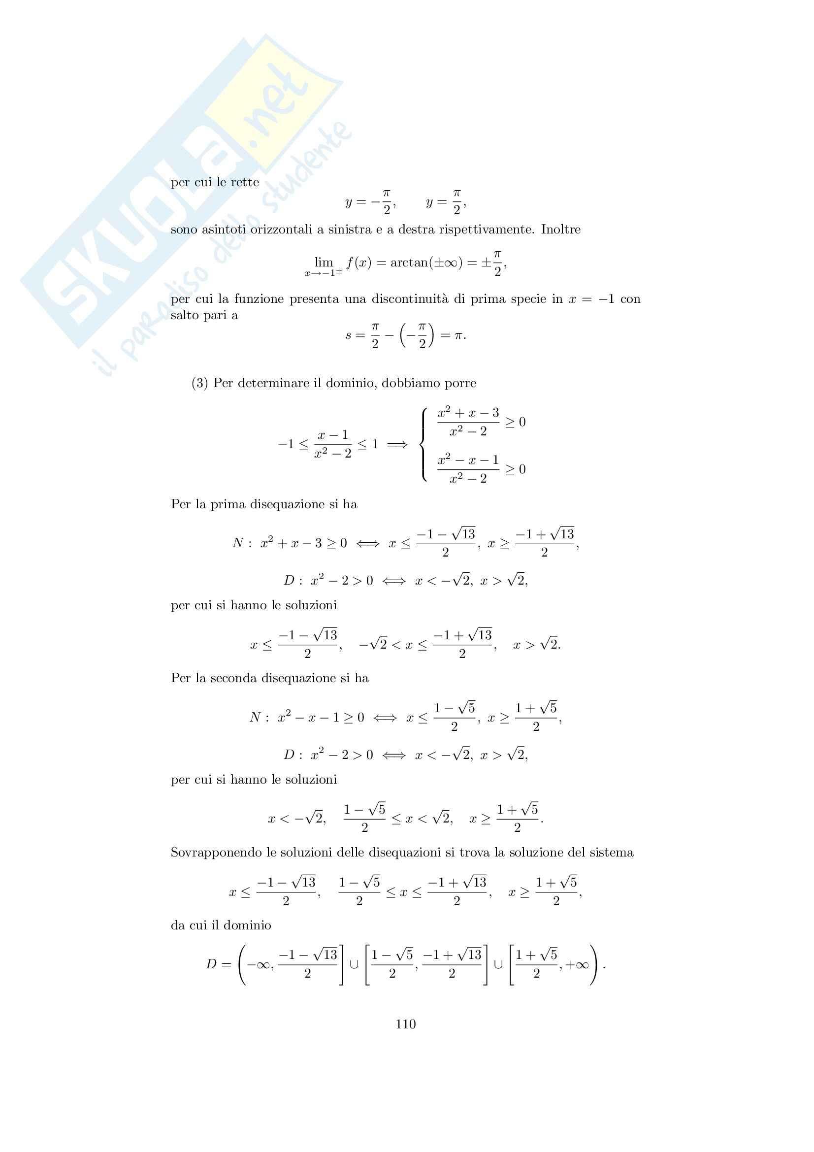 Analisi matematica 1 - Note ed esercizi svolti sui Limiti di Funzioni Pag. 26