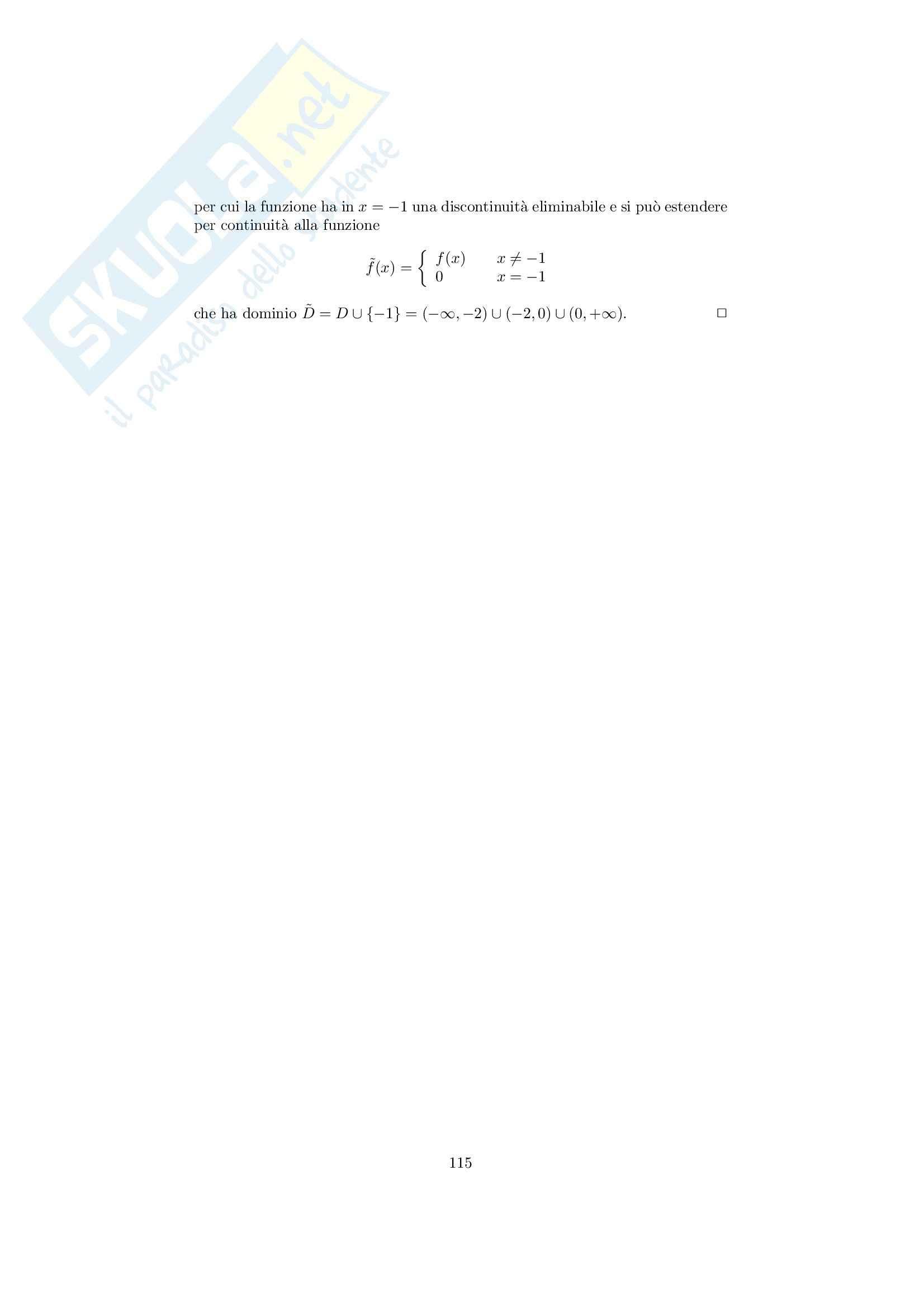 Analisi matematica 1 - Note ed esercizi svolti sui Limiti di Funzioni Pag. 31