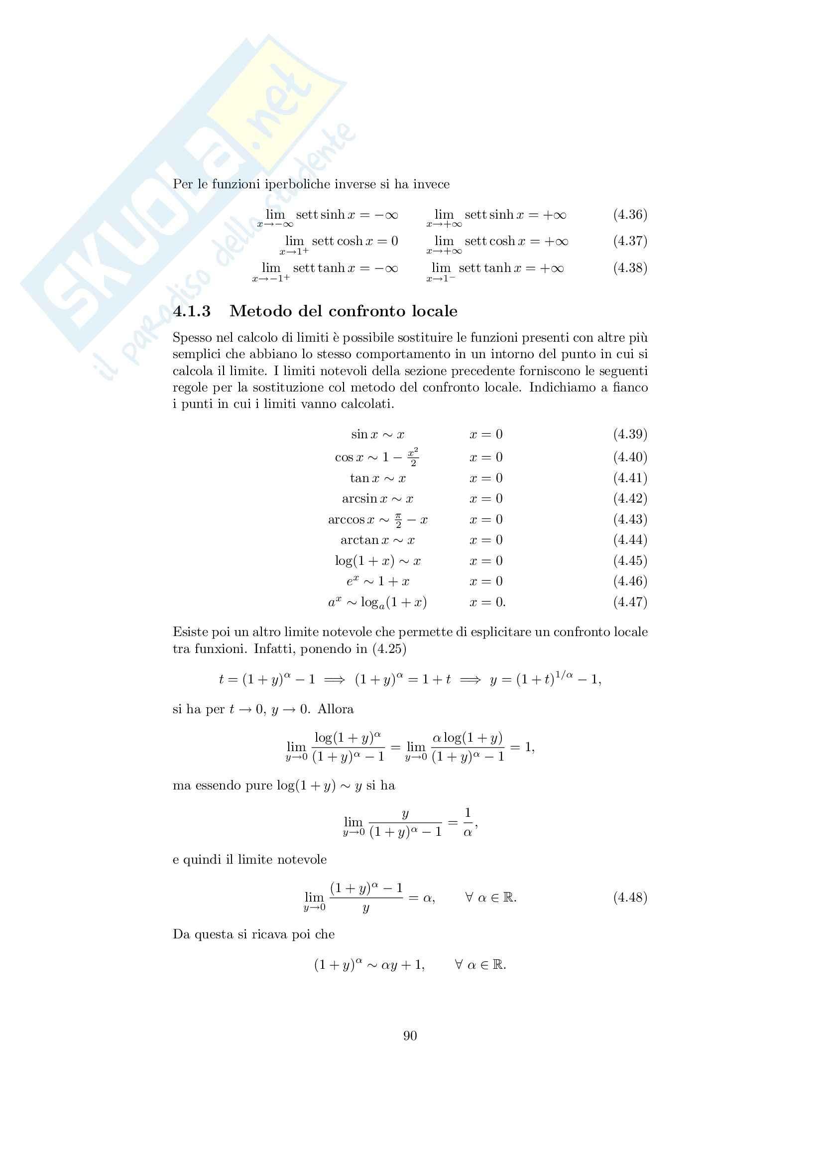 Analisi matematica 1 - Note ed esercizi svolti sui Limiti di Funzioni Pag. 6
