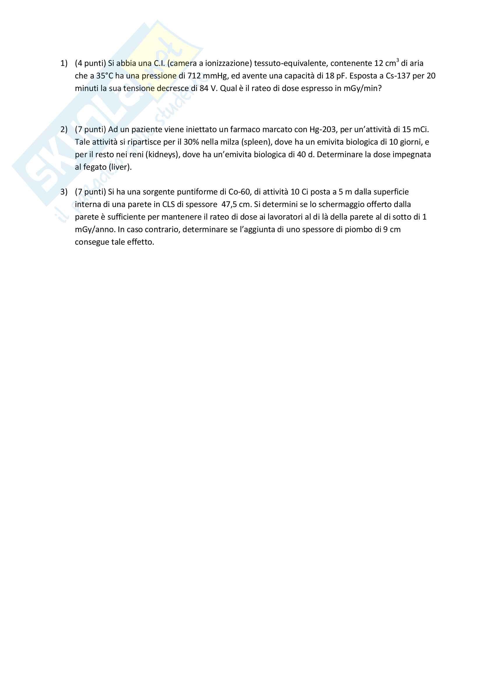 Appunti e Simulazioni d'esame di Radioprotezione T Pag. 16